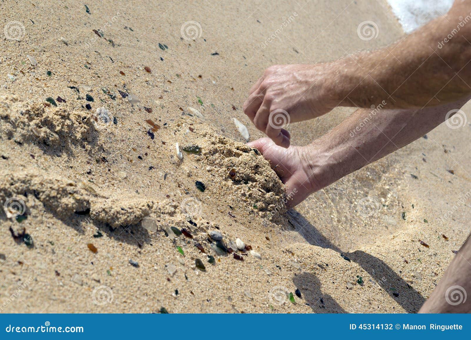 Стекло пляжа в Бермудских Островах
