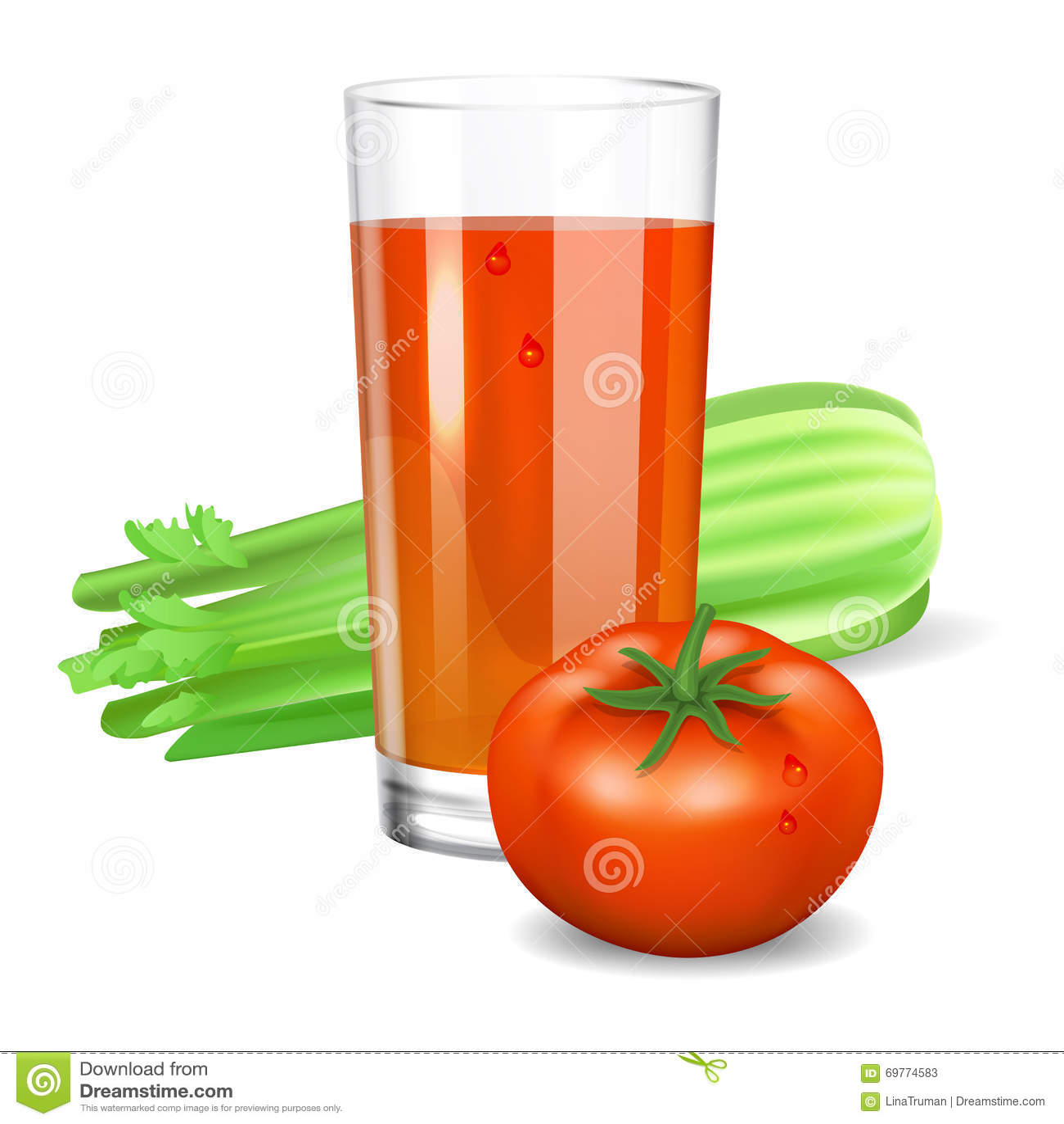 Стекло с соком томата и сельдерея Томат и сельдерей