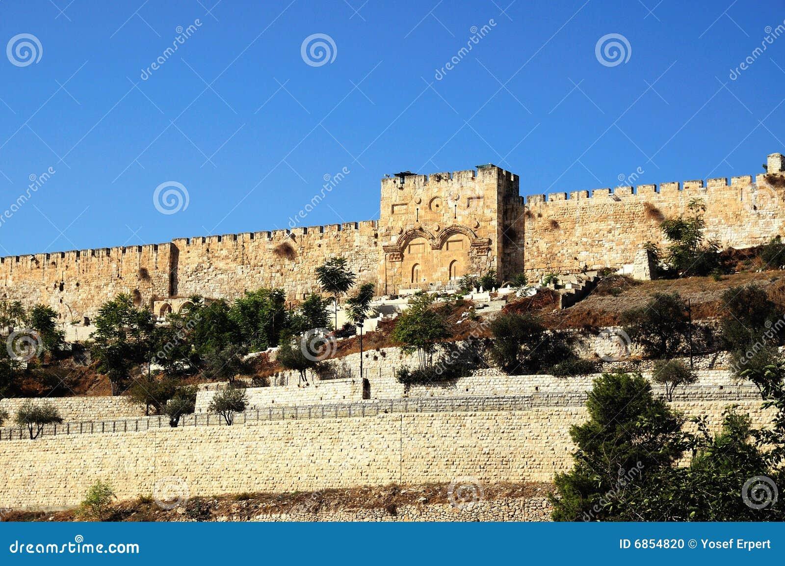 стена восточного Иерусалима города старая