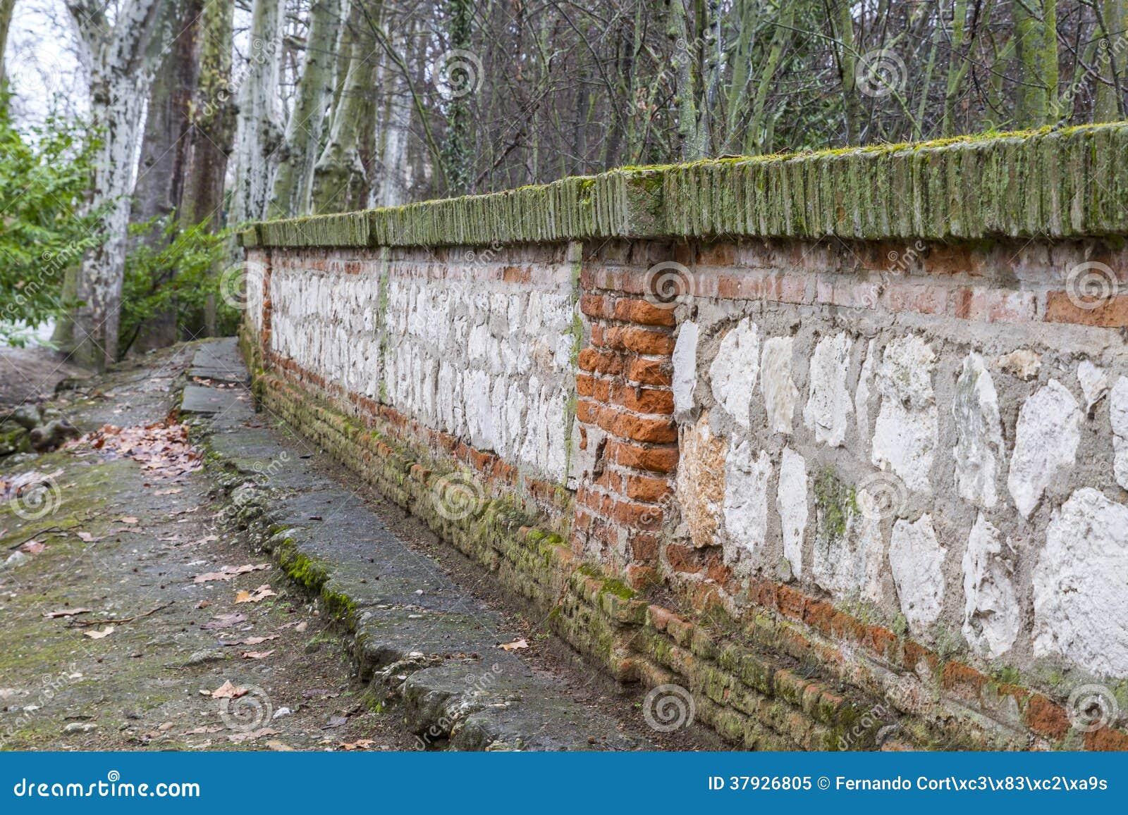 Стена в реке tajo. Аранхуэс, Мадрид, наследие s Spain.World