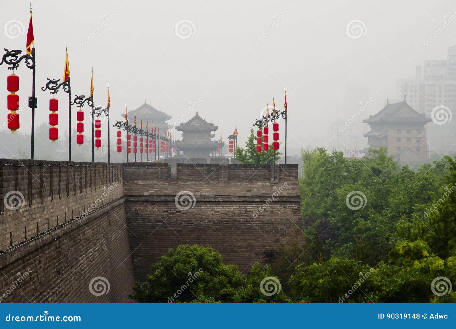 Стена города - Xian - Китай
