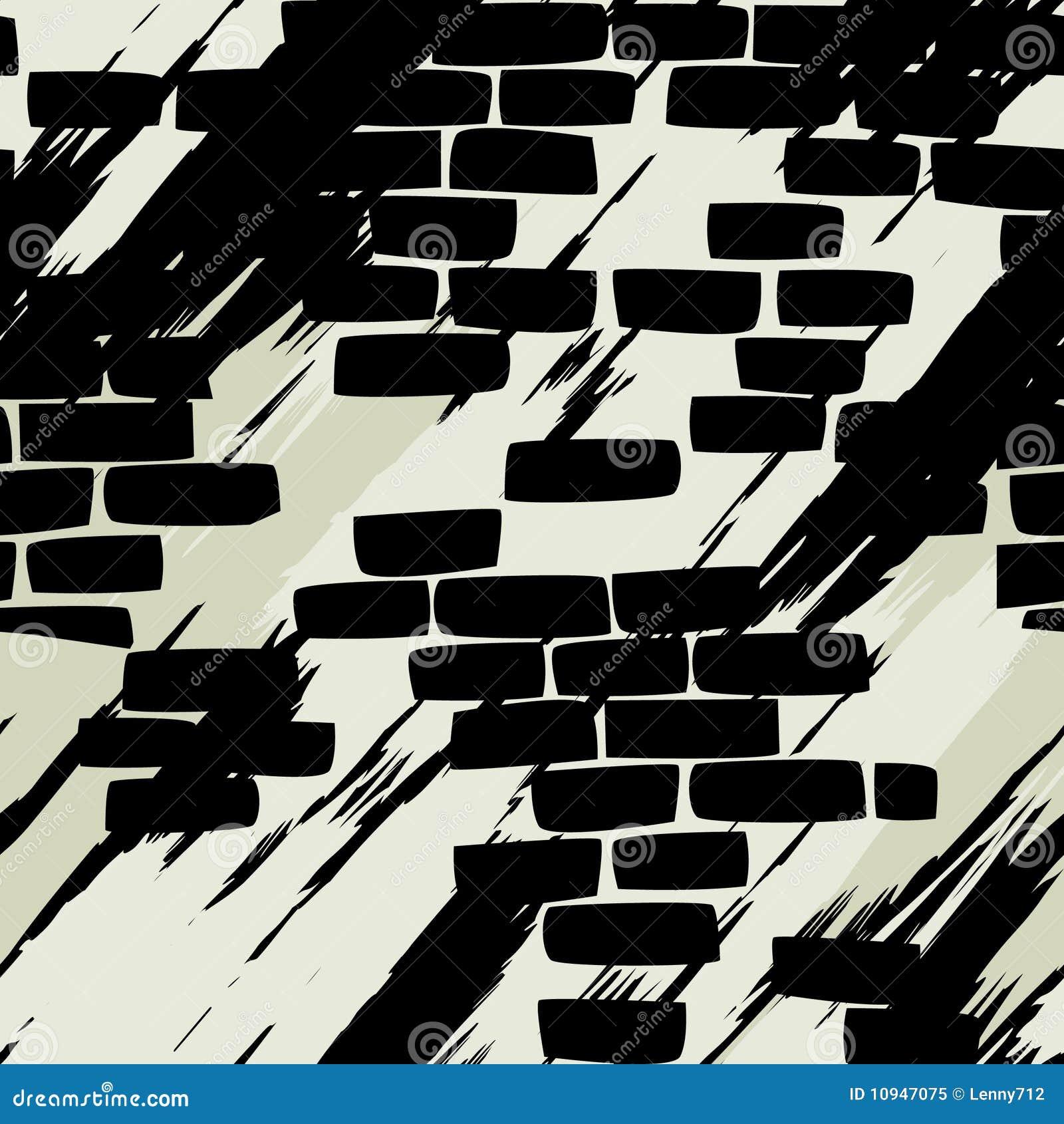 стена кирпича безшовная