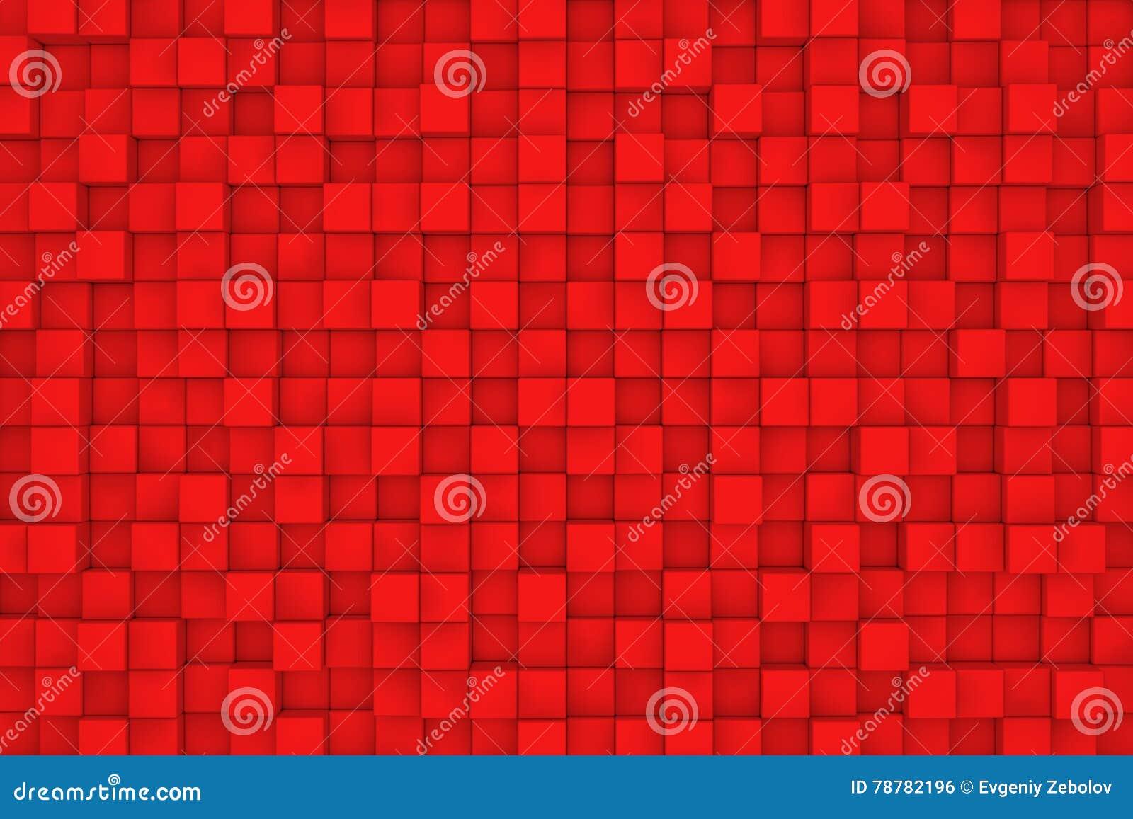 Стена красных кубов