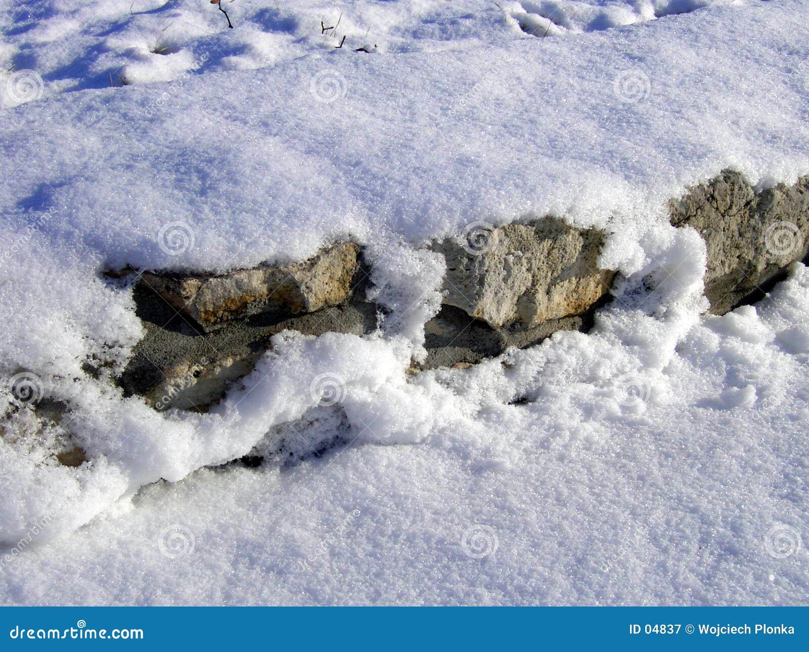 стена снежка