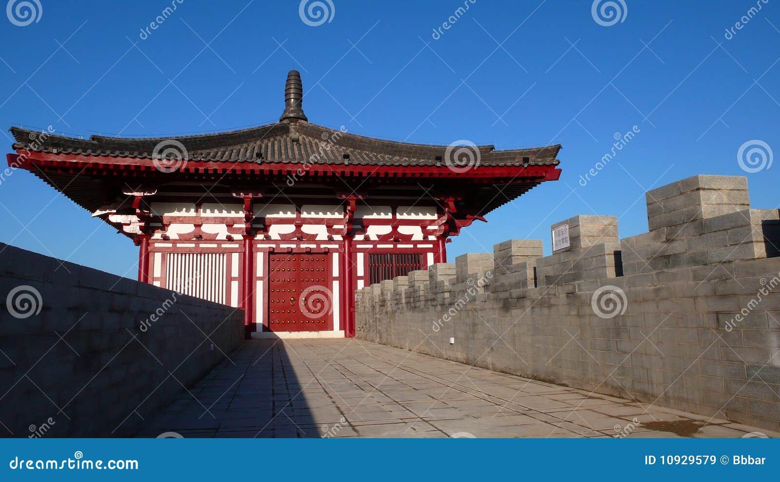 стена xian города фарфора