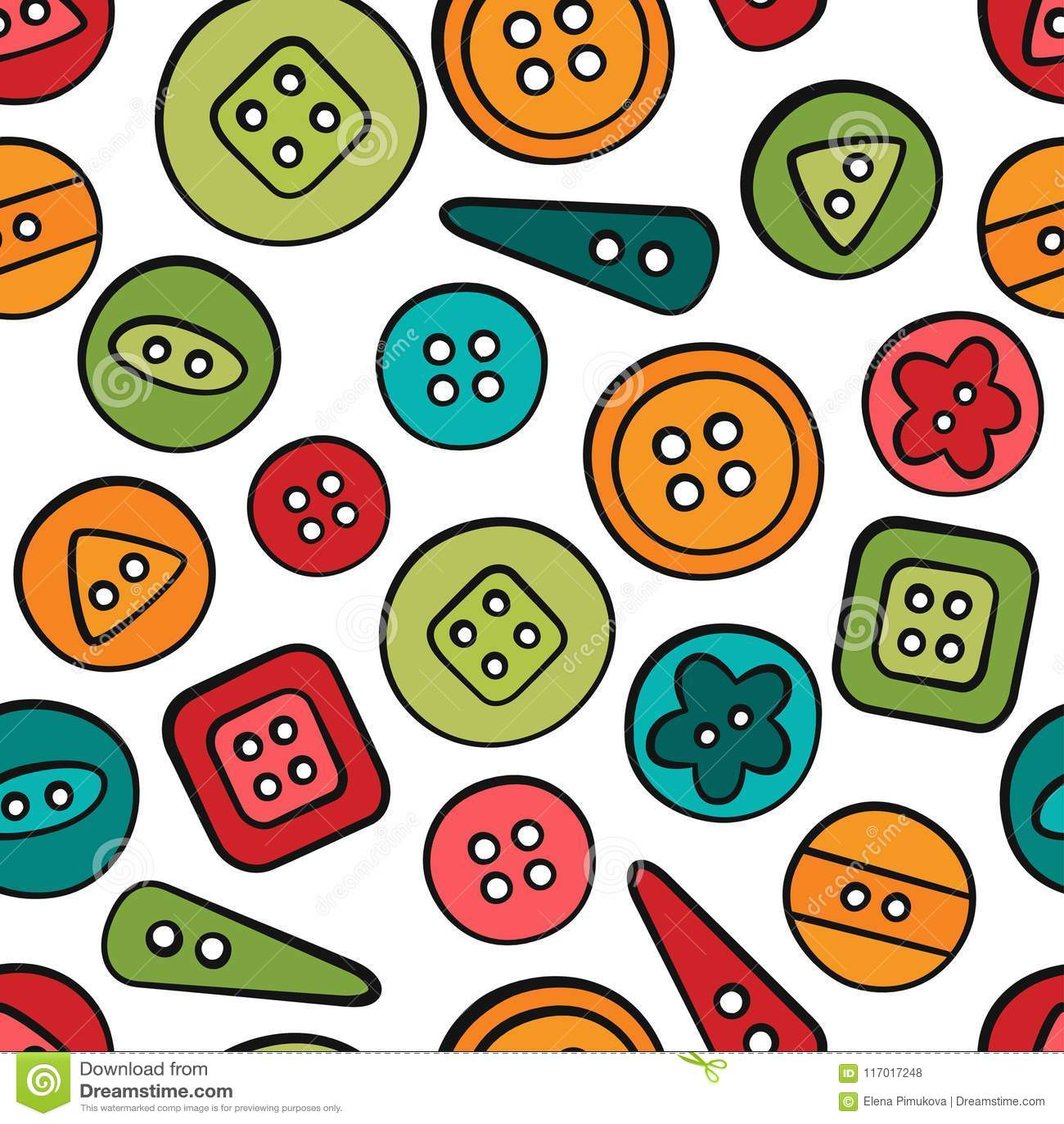 стержни Шить и needlework Инструменты и вспомогательное оборудование Безшовная картина в стиле doodle и шаржа цветасто линейно
