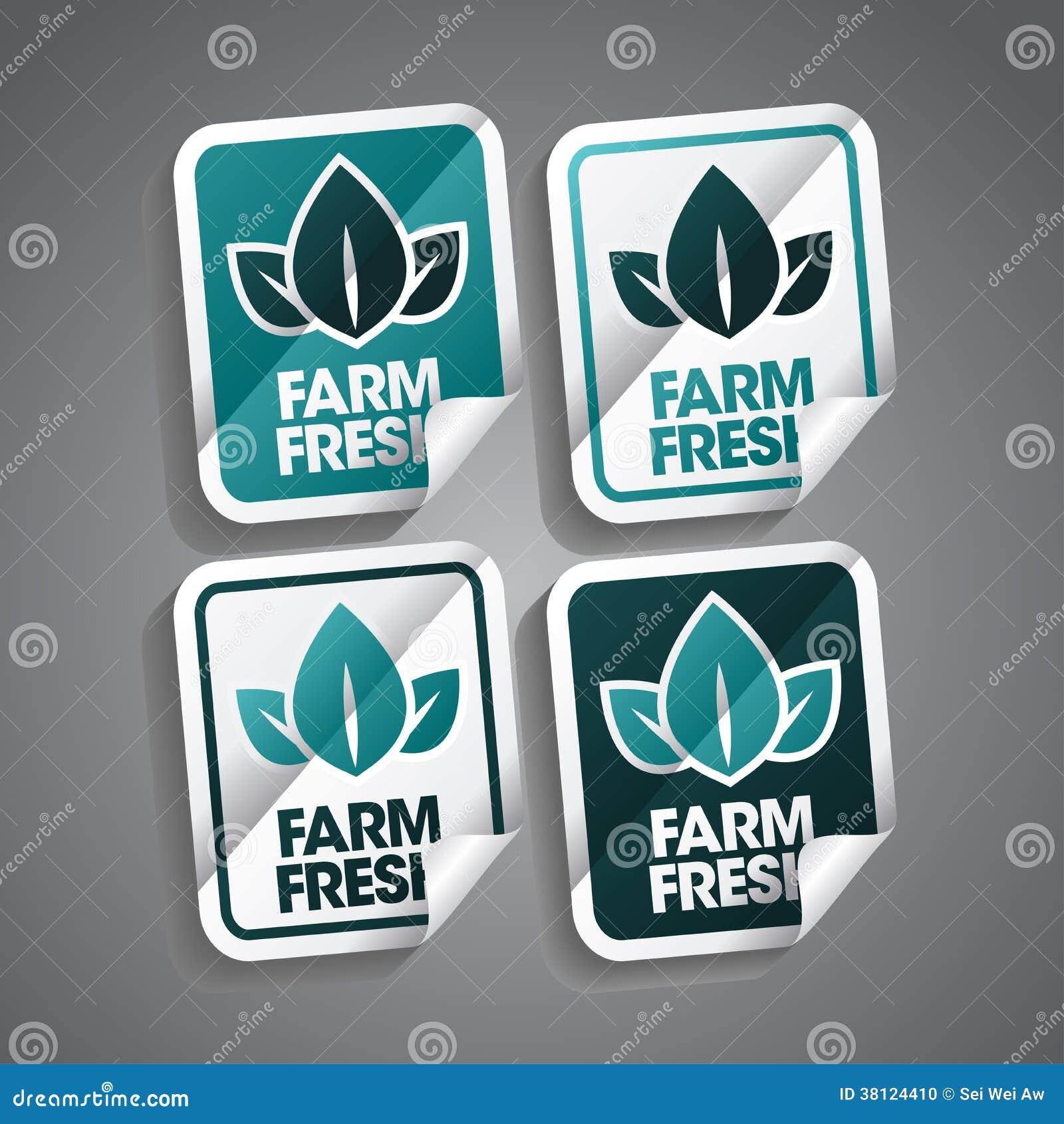 Стикер фермы свежий
