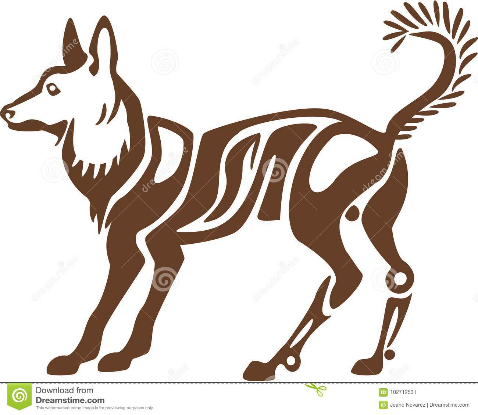 Стилизованная собака шпица
