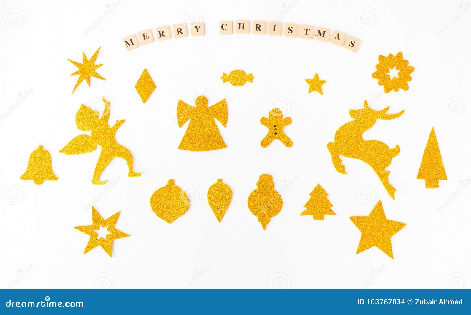 Стильные формы рождества глумятся вверх handcrafted вырезы на время рождества Взгляд сверху