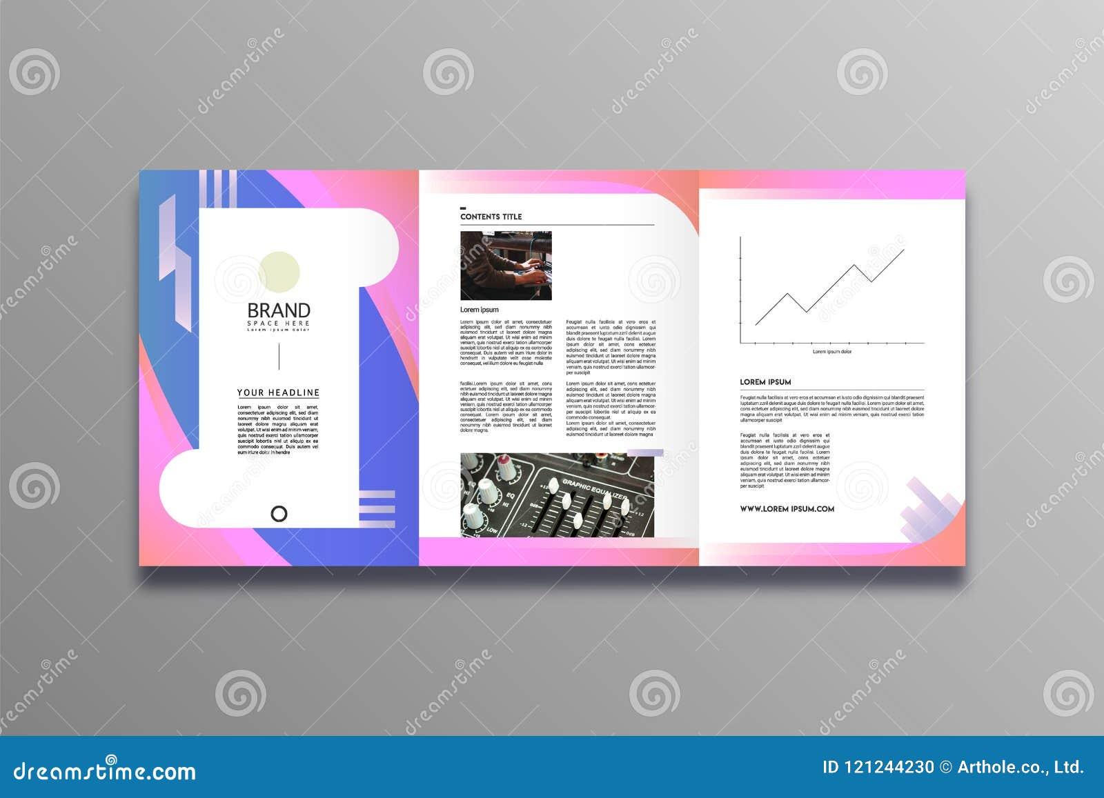 Стиль дизайна брошюры дела стильный и современный