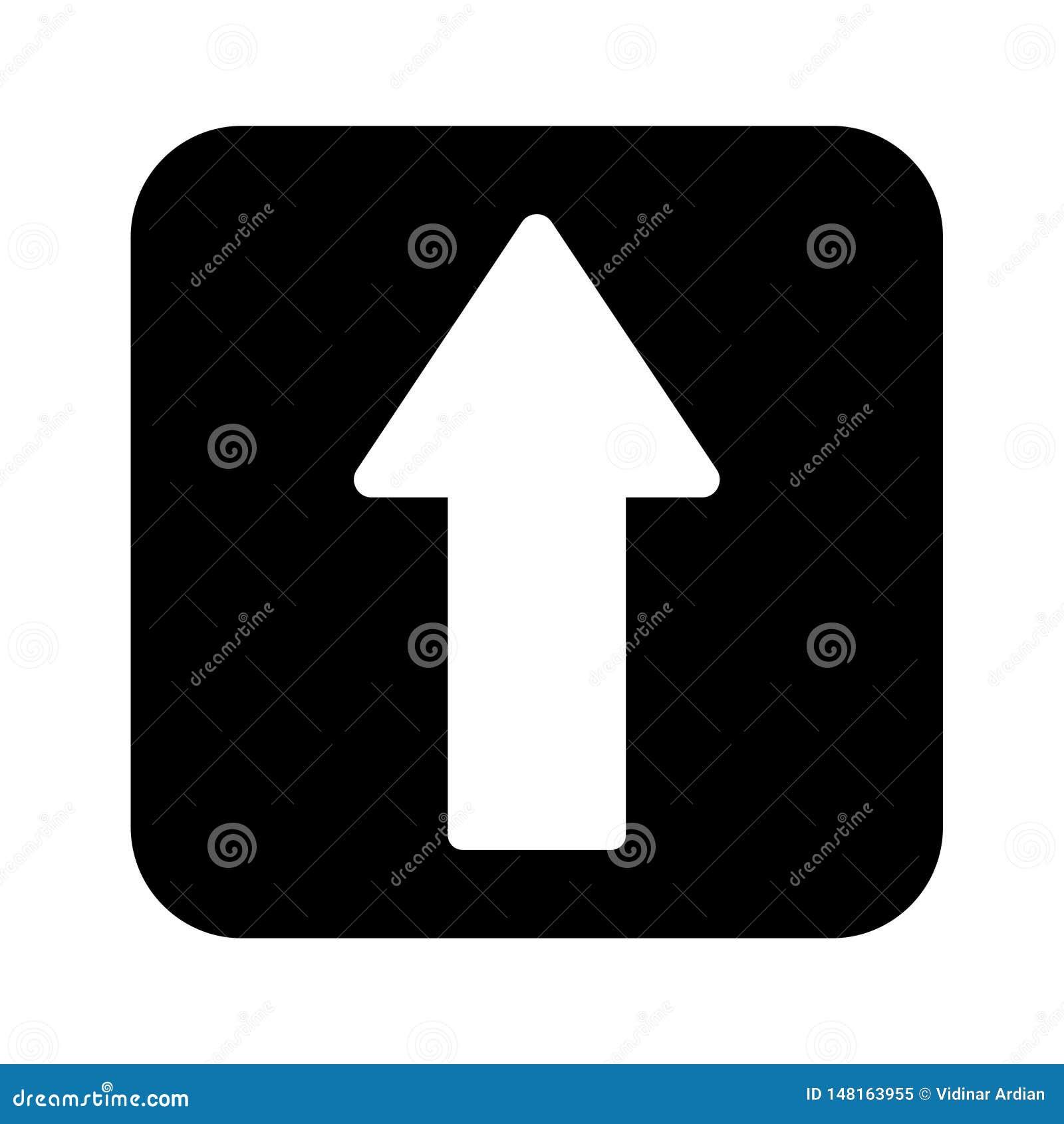 Стиль дизайна вектора значка стрелки плоский - вектор