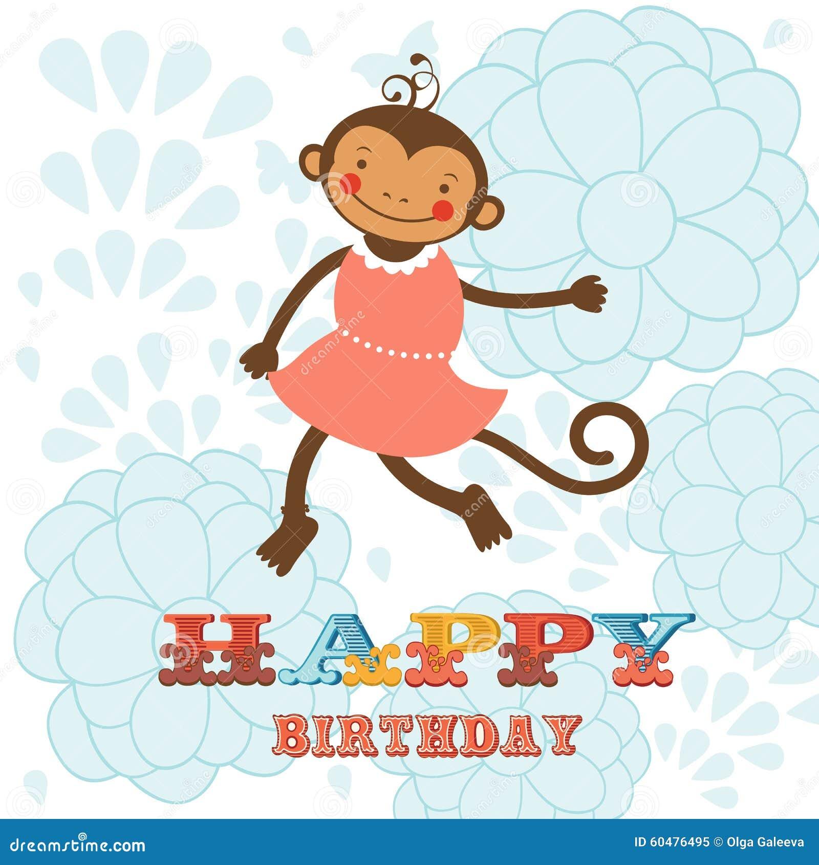 Картинки обезьянки с днем рождения, открытки годик мальчику