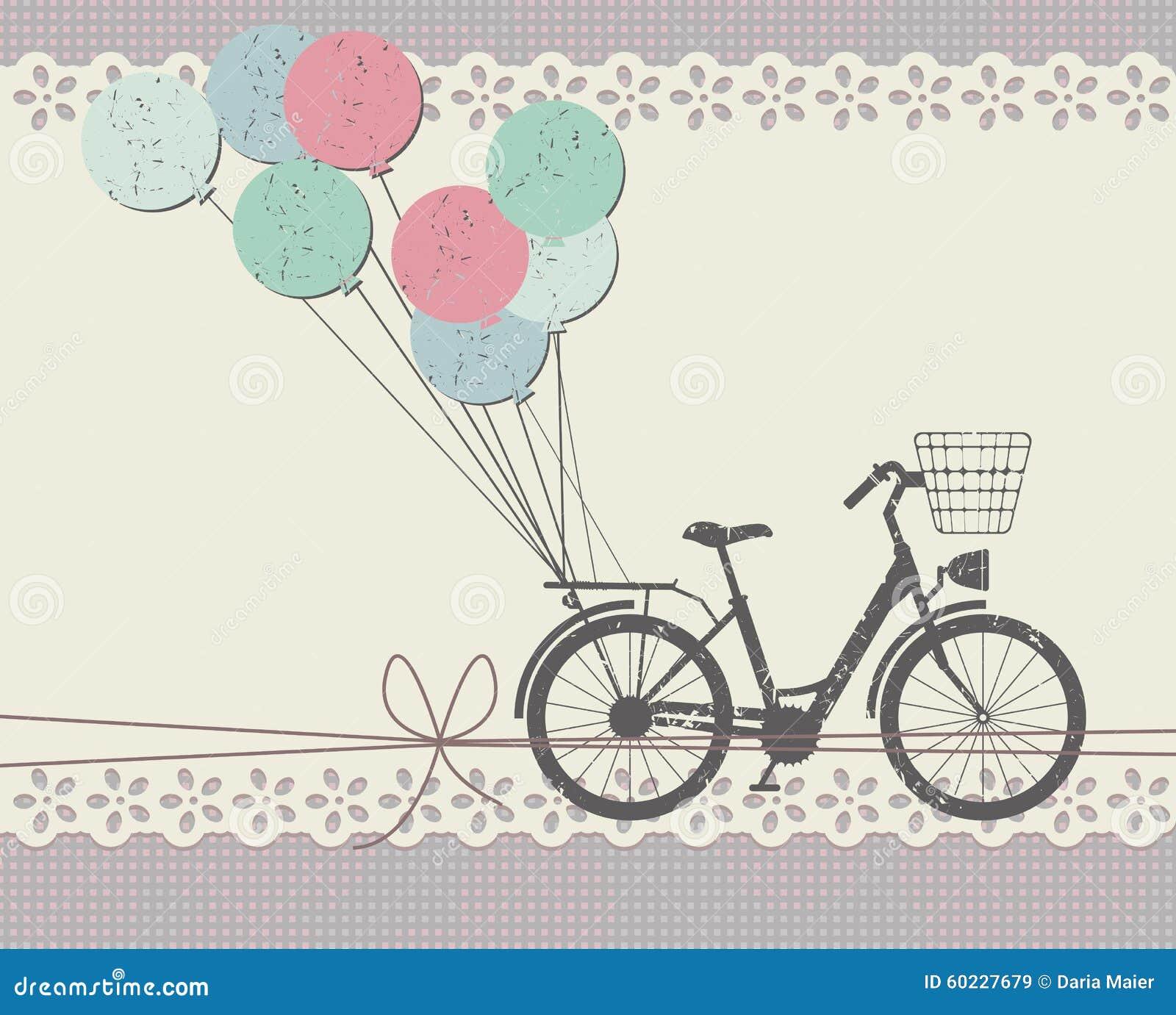 Открытка с изображением велосипеда