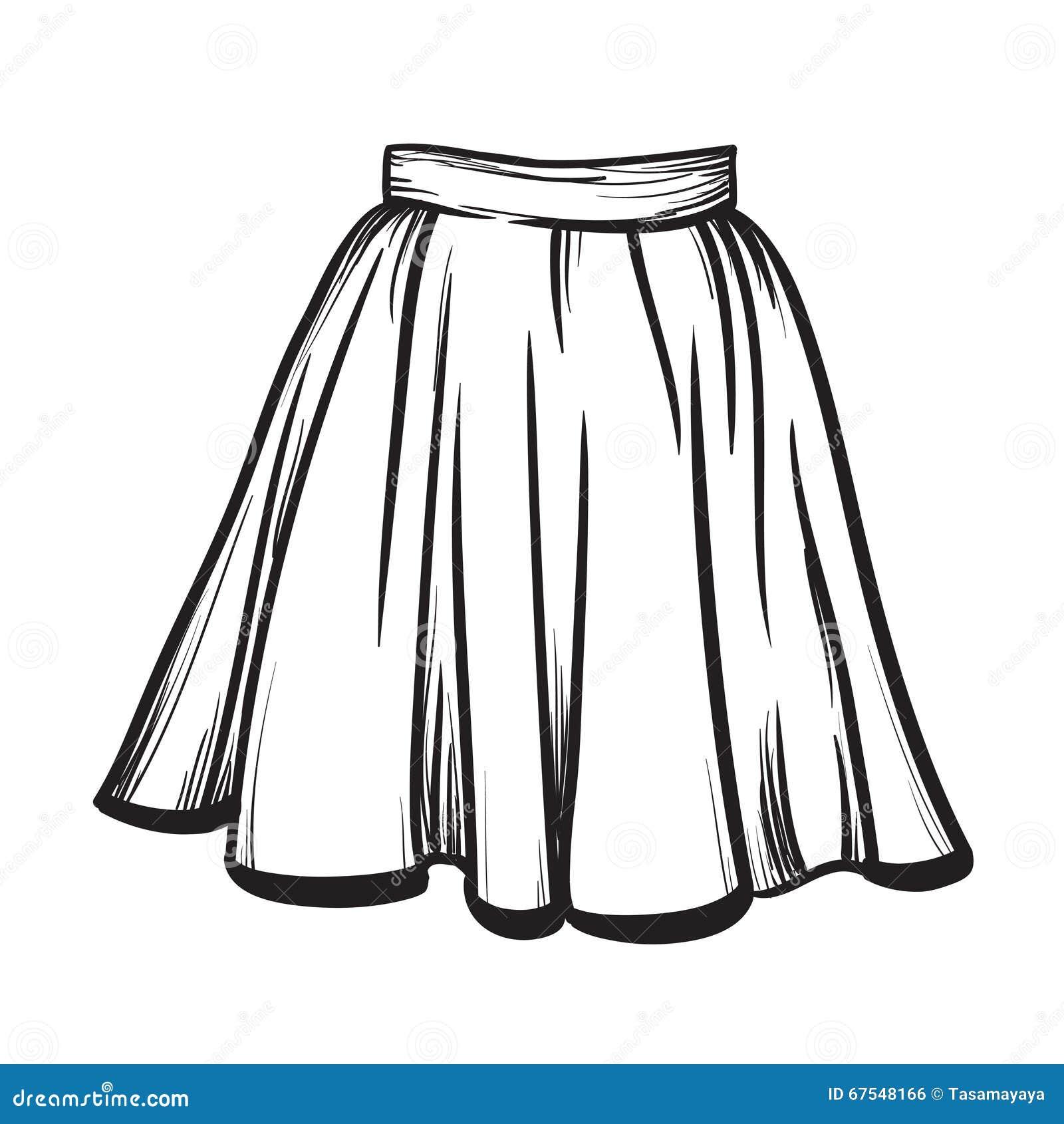 Нарисованные модели юбок