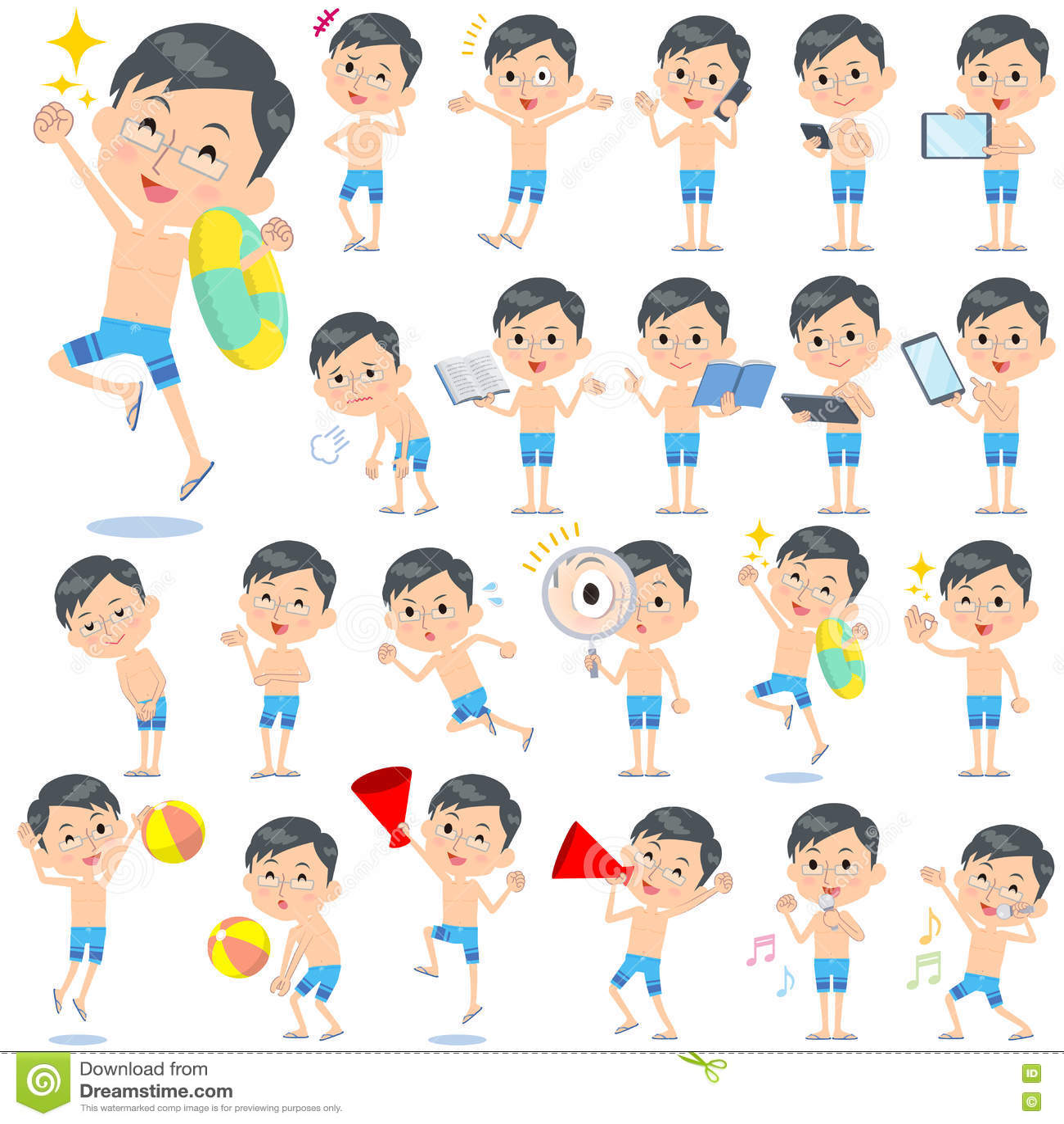 Download Стиль 2 Swimwear отца голубой Стоковое Изображение - изображение насчитывающей япония, пункт: 72288463