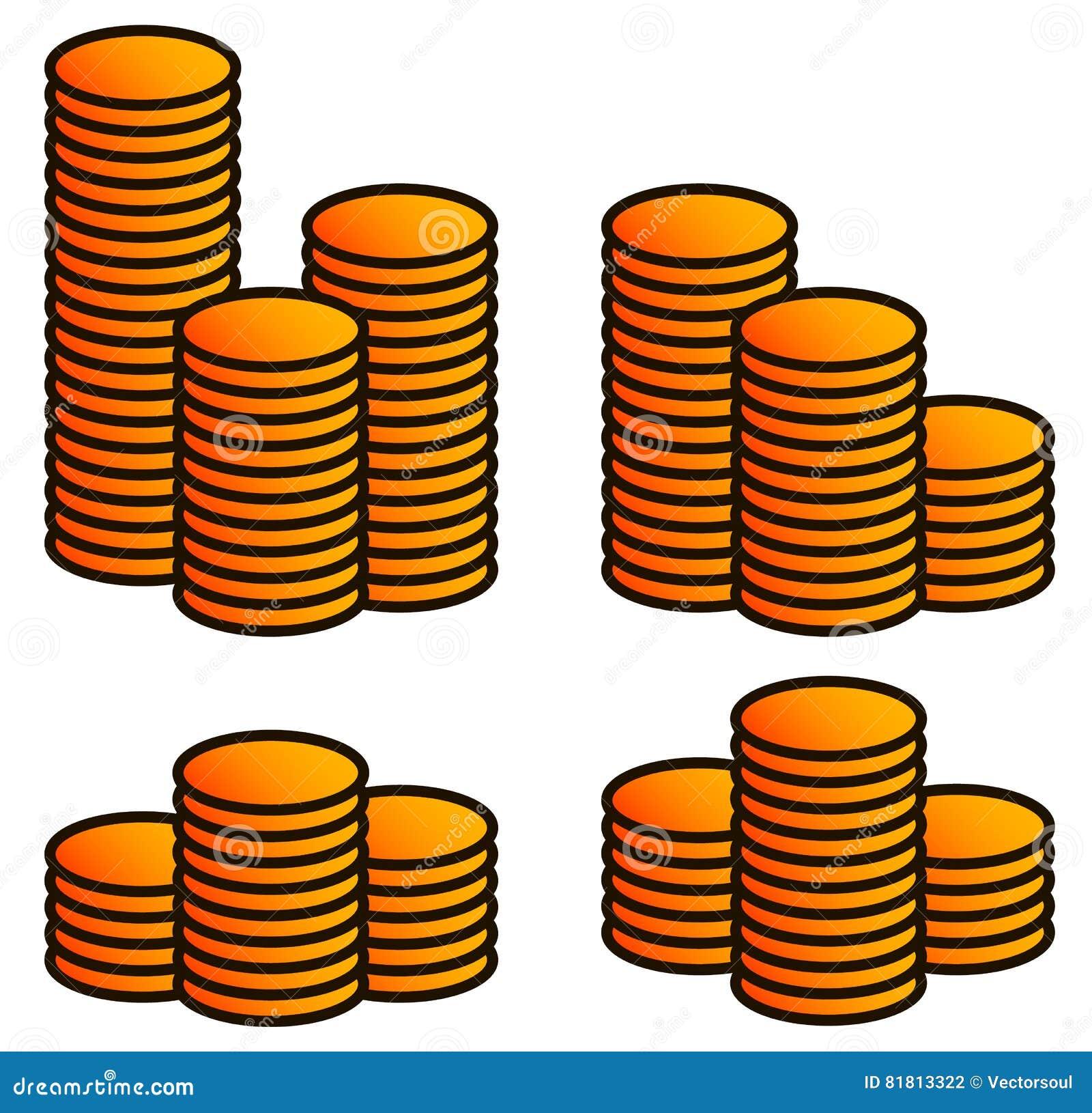 Стог монеток Комплект 4 версий