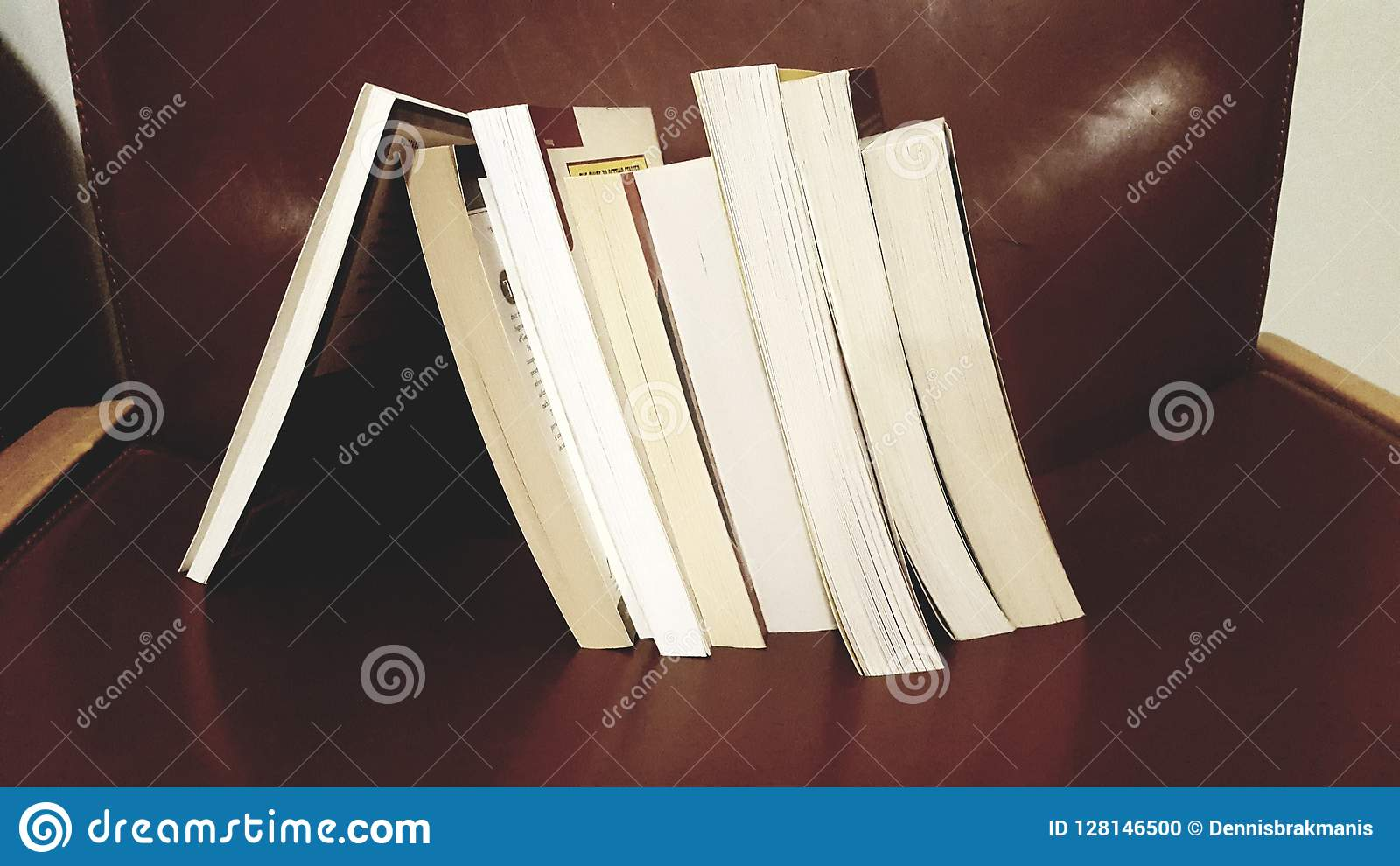 Стог склонности книги на одиночной книге