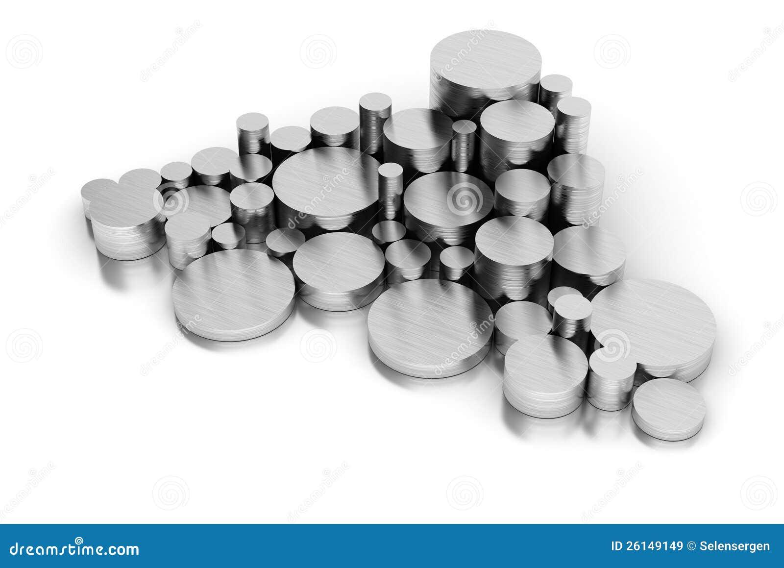 Стог стальных труб