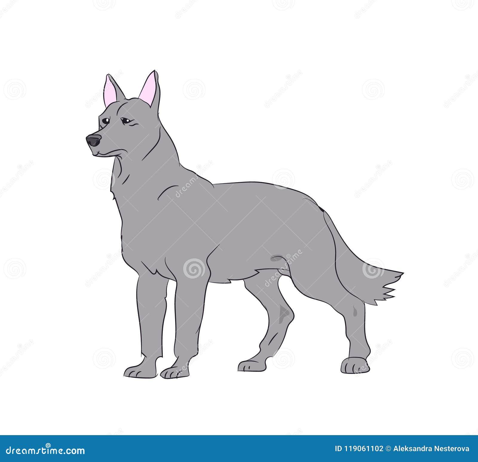 Стойки собаки, вектор