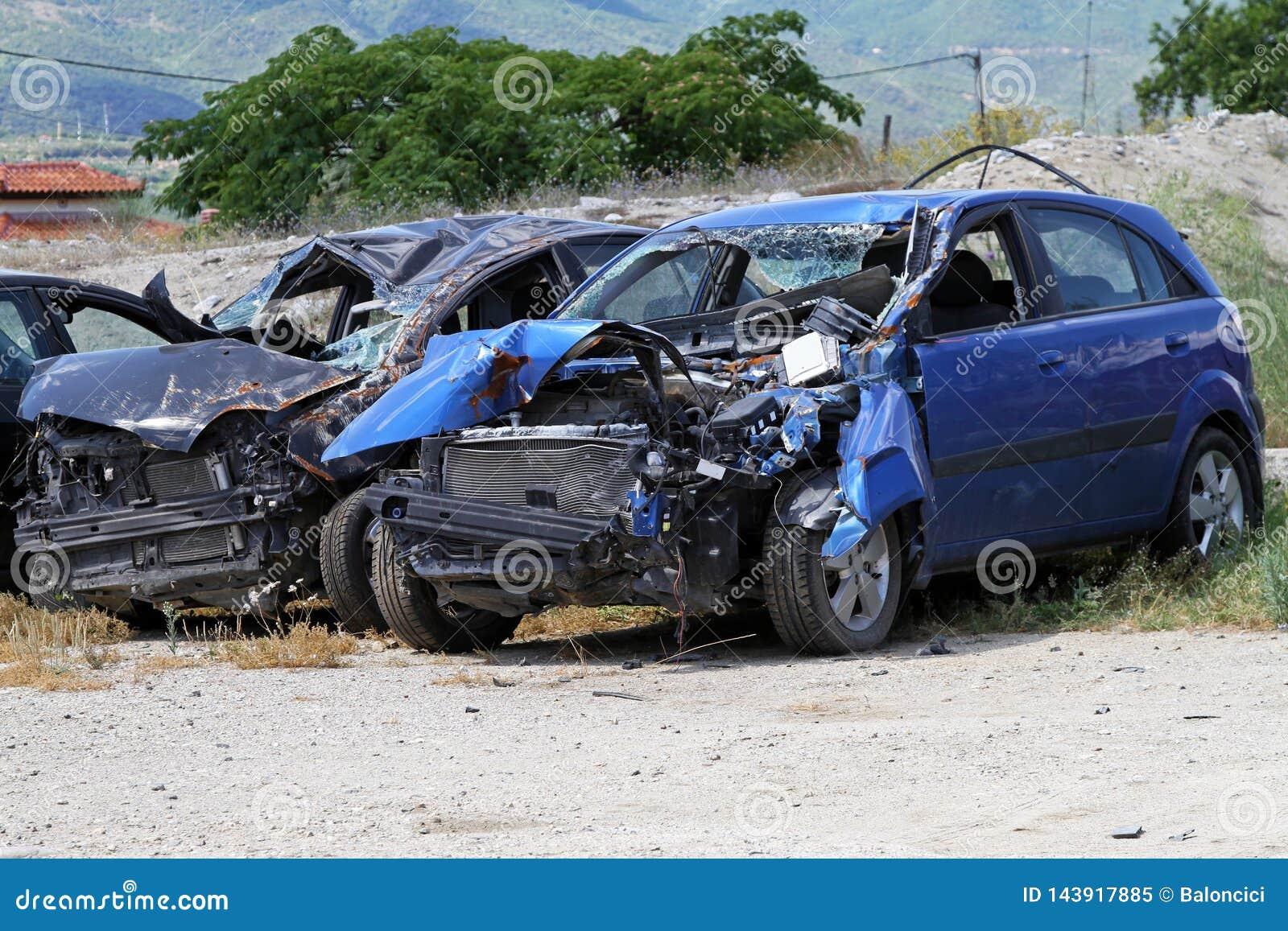 Столкновение автомобиля