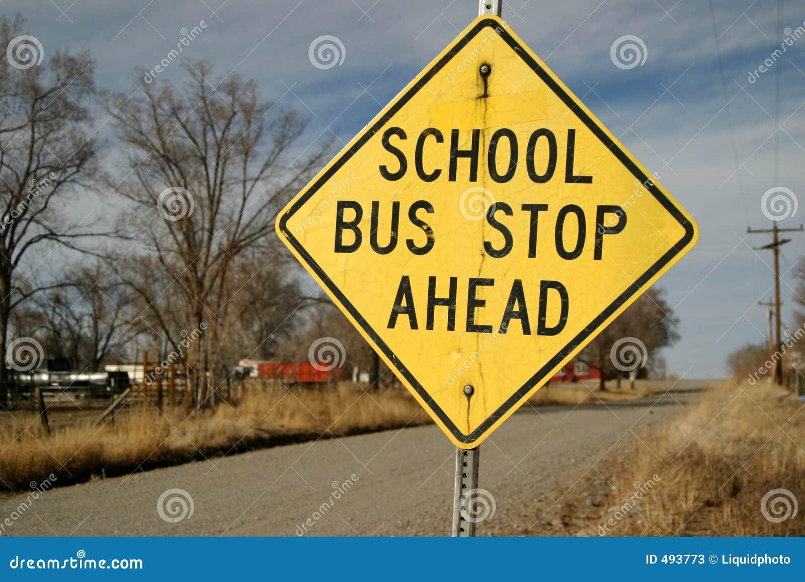 стоп знака школы шины