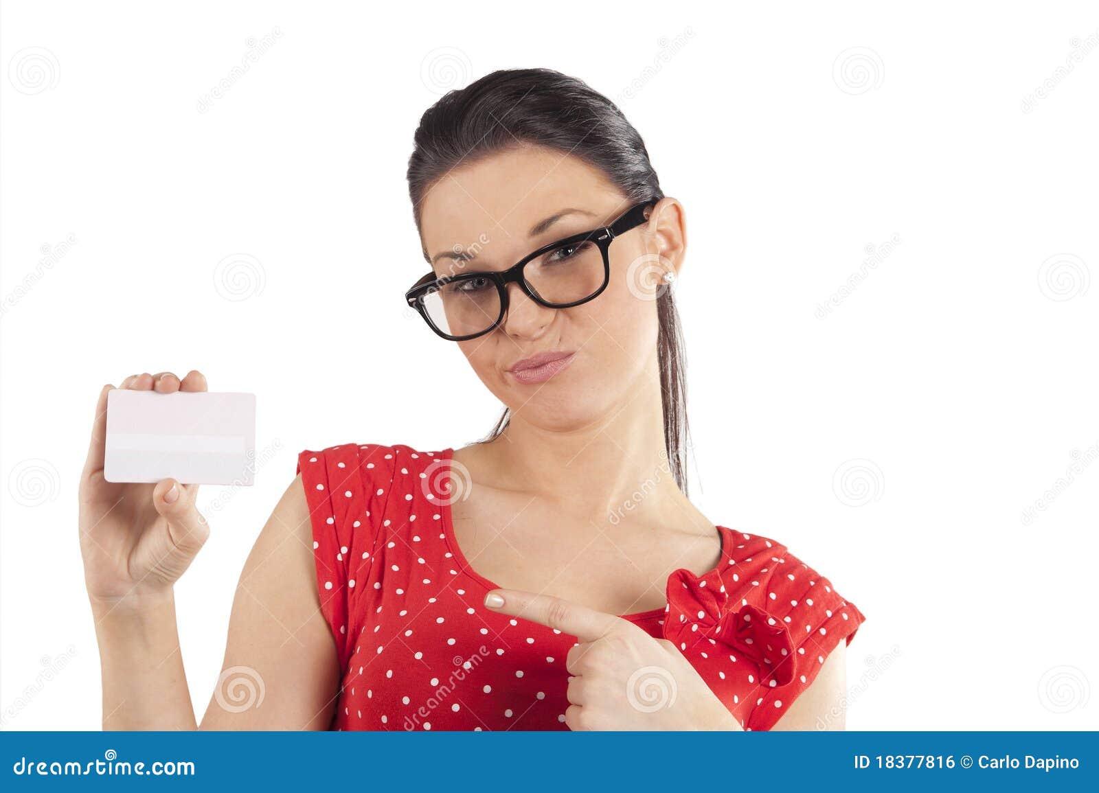 сторона карточки делая показывать женщину