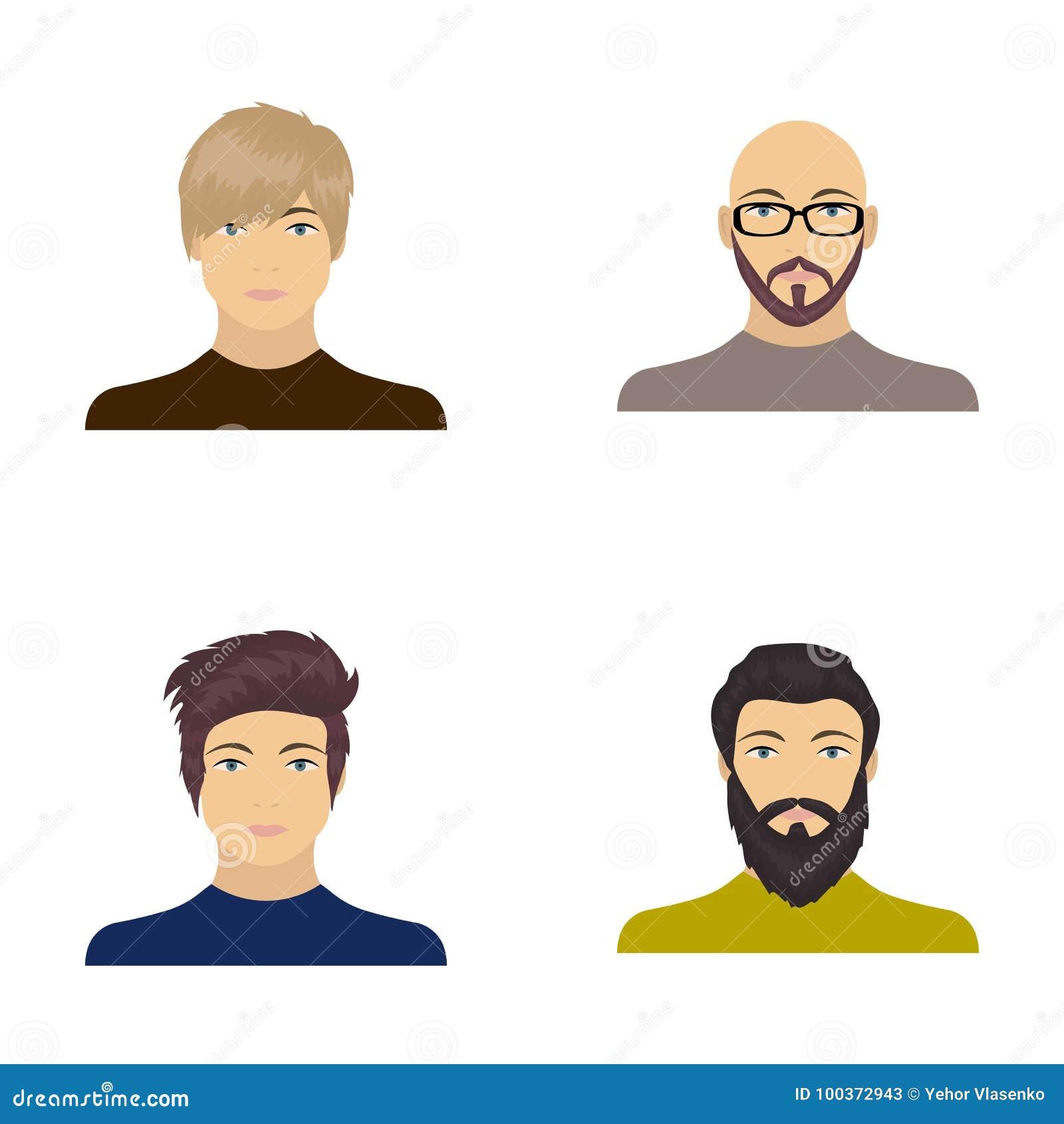 Сторона облыселого человека с стеклами и борода, бородатый человек, возникновение парня с hairdo Сторона и