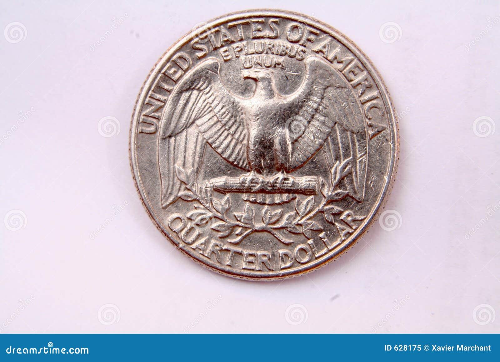 Download сторона орла квартальная стоковое изображение. изображение насчитывающей евро - 628175