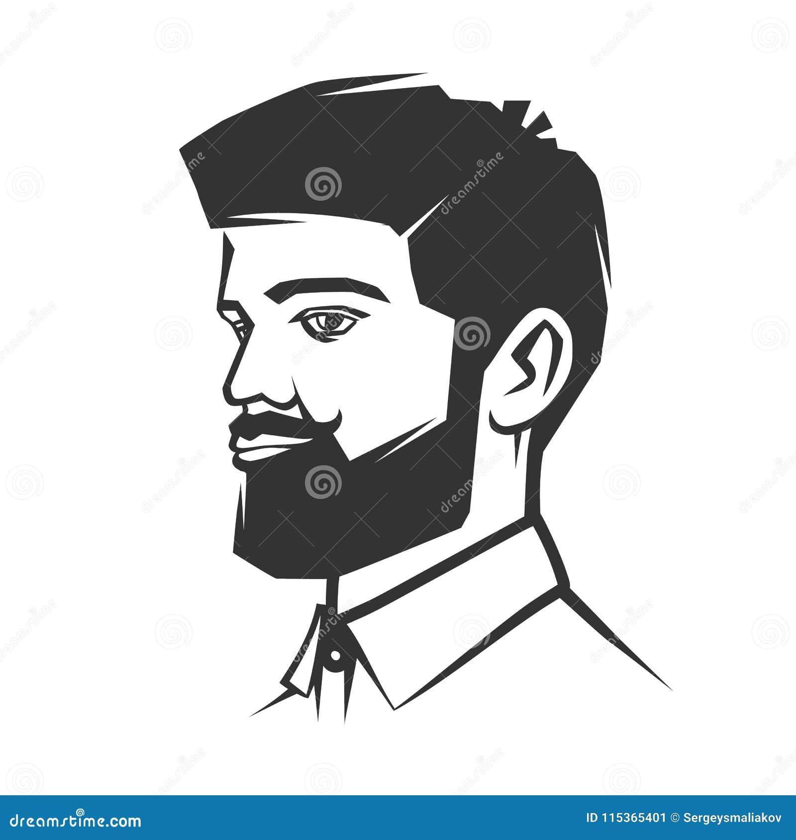 Сторона ` s человека с бородой