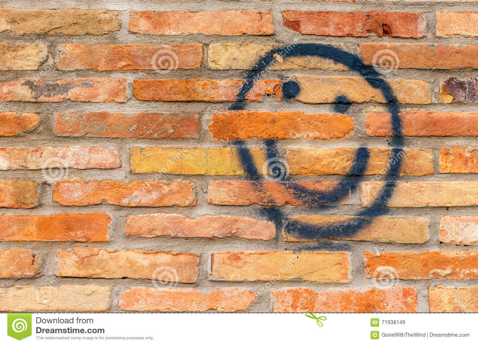 Сторона Smiley нарисованная на стене