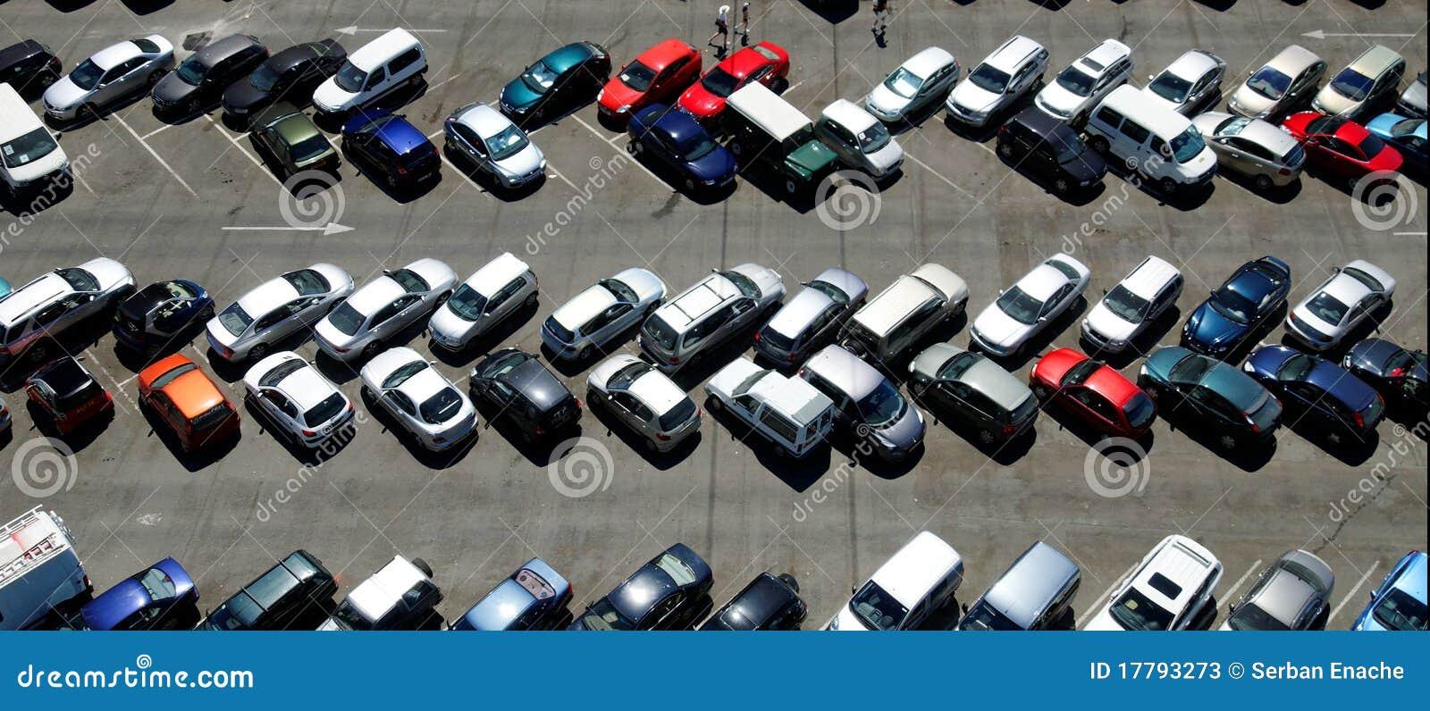 стоянка автомобилей серии