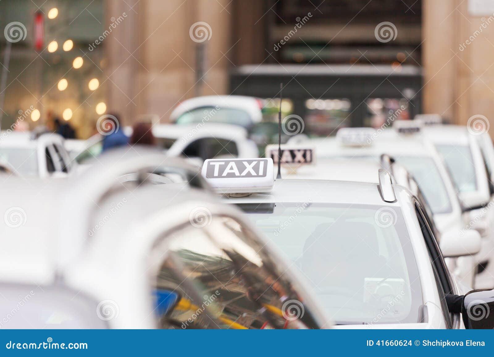 Стоянка такси в милане