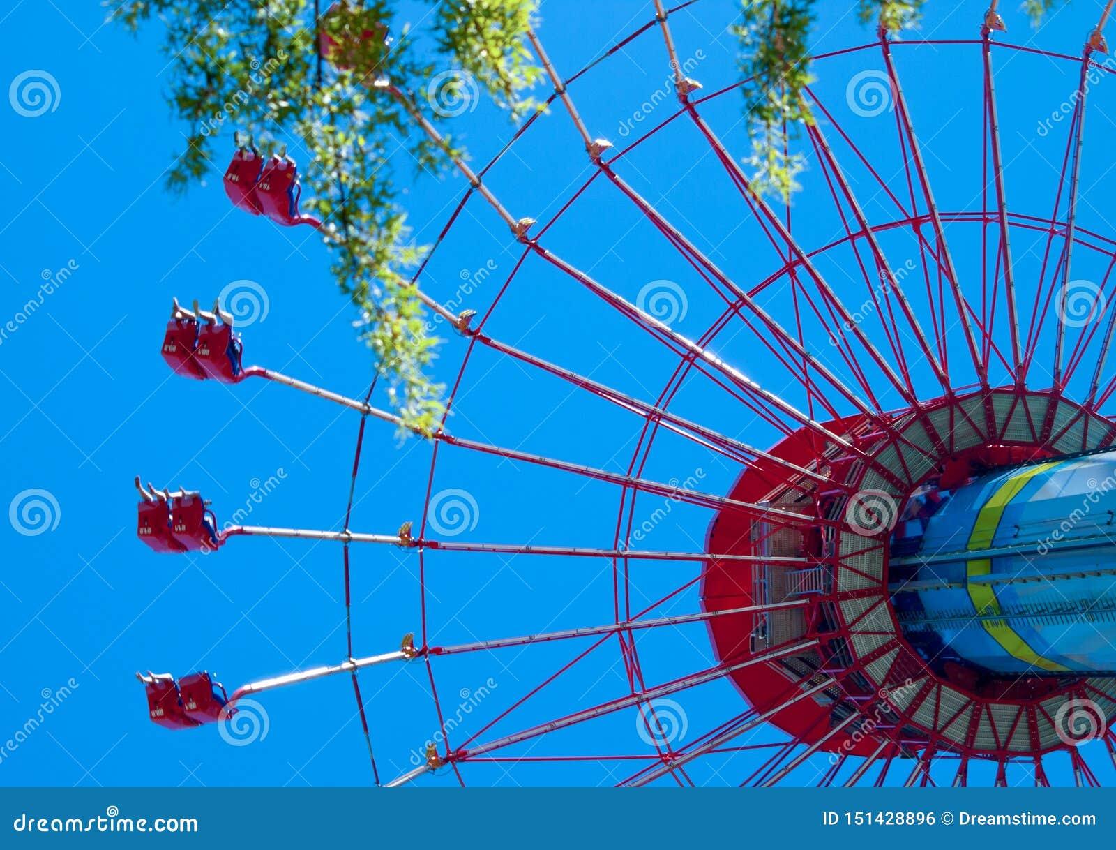 Стоя высокорослое колесо ferris над летом