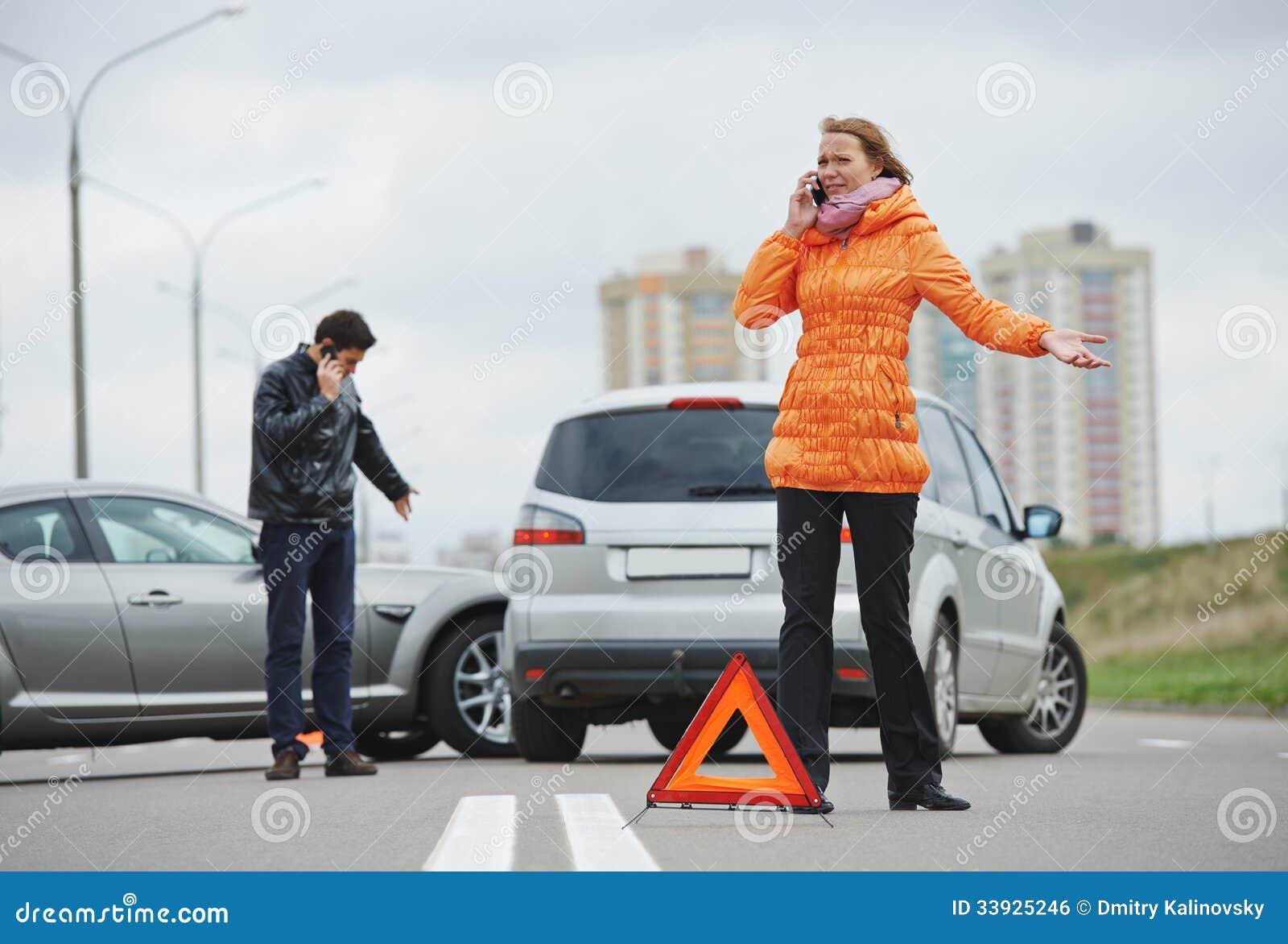 Столкновение автокатастрофы