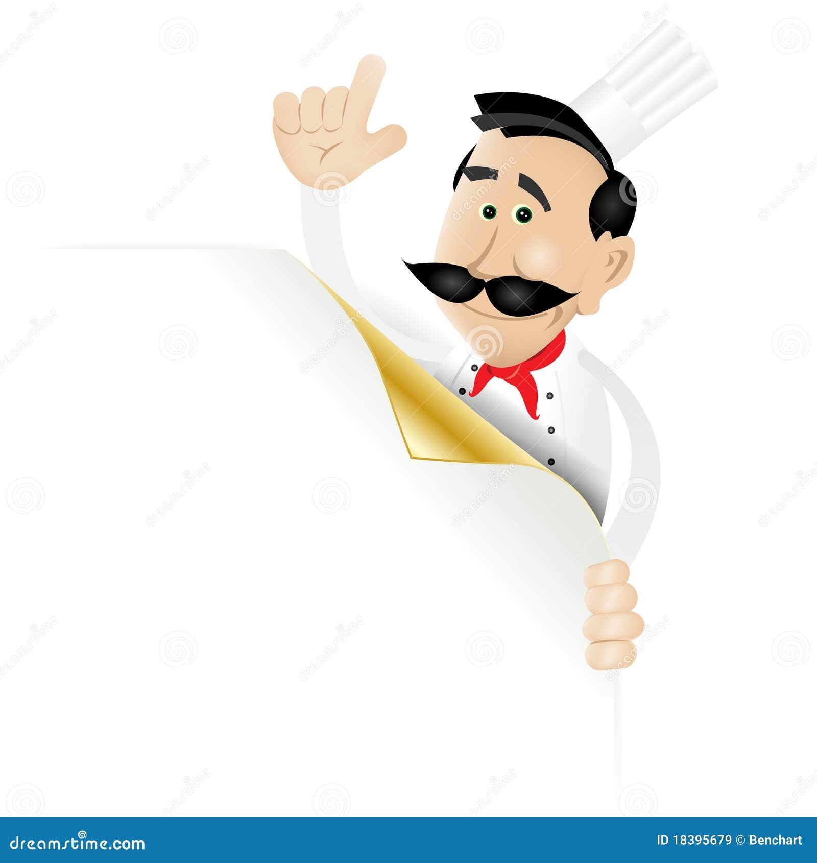 страница меню удерживания шеф-повара угловойая