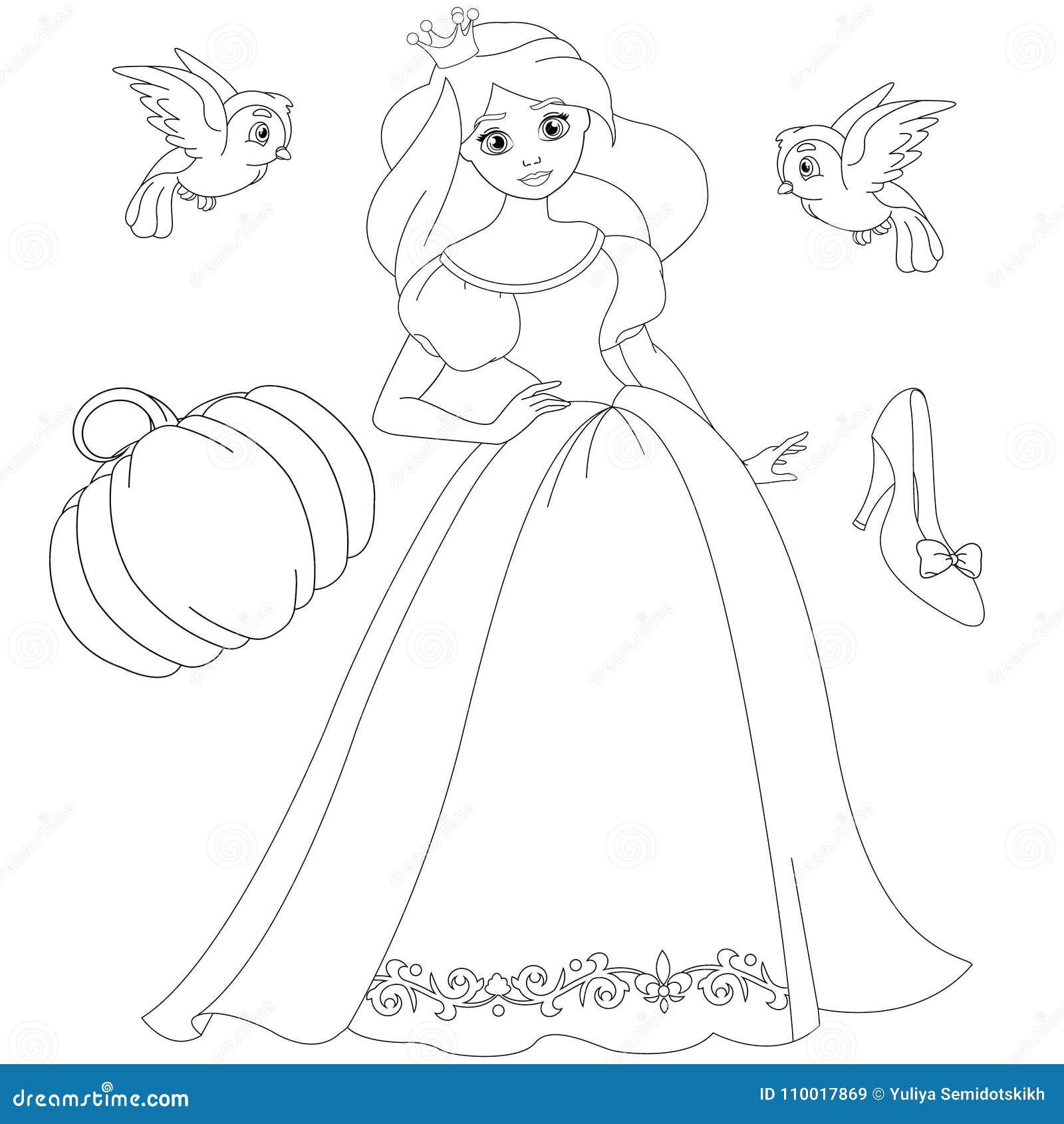 страница принцессы книжка раскраски сказки белокурая