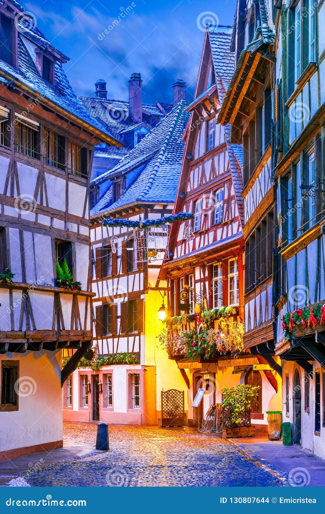 Страсбург, Эльзас, Франция - Capitale de Noel