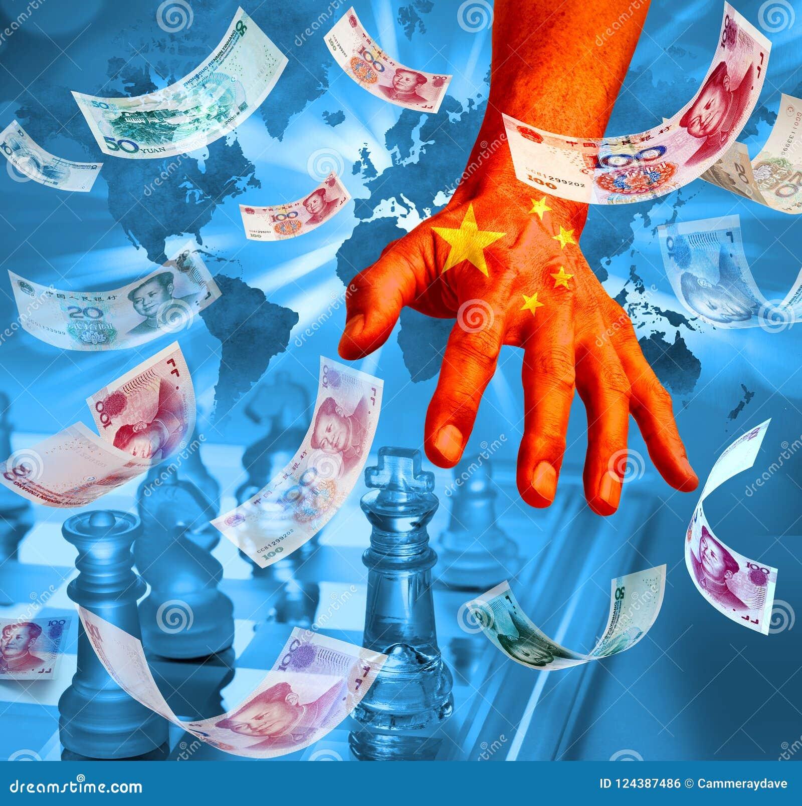 Стратегия шахмат дела денег Китая китайская