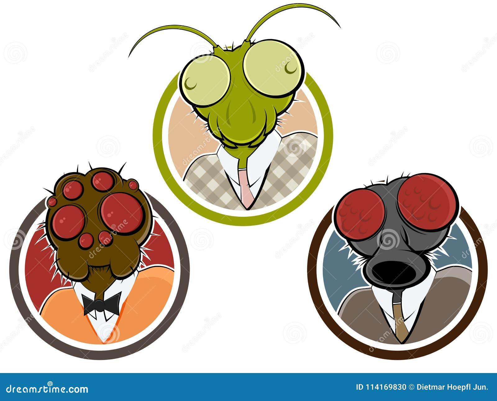 Страшная голова насекомого или паука