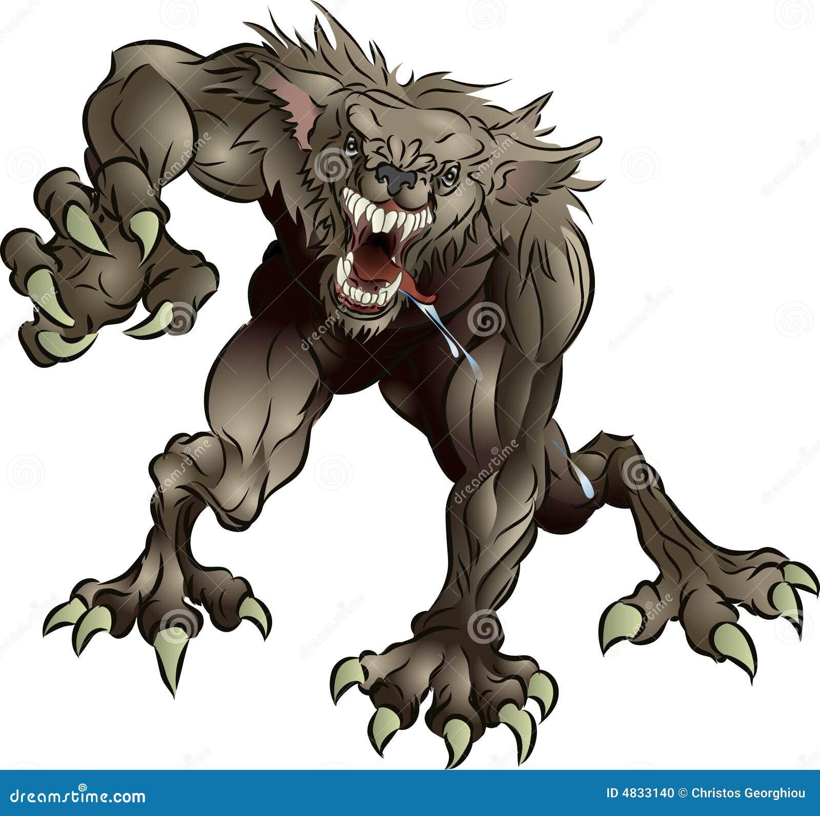 страшный werewolf спутывать