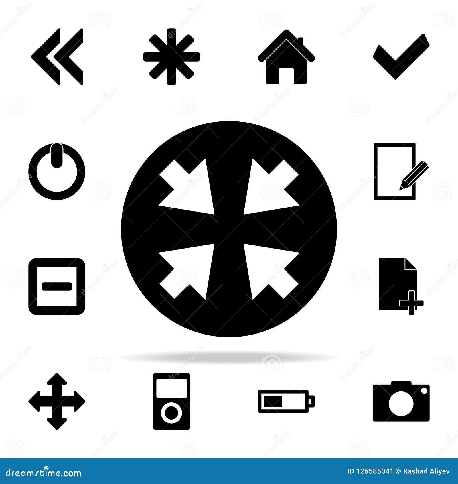 стрелки в значке круга комплект значков сети всеобщий для сети и черни