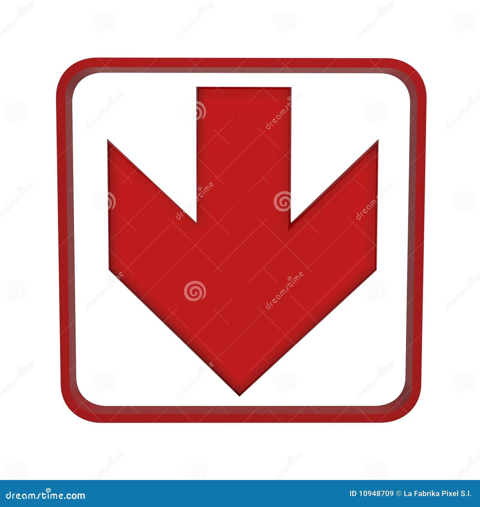 стрелки красный цвет вниз вверх