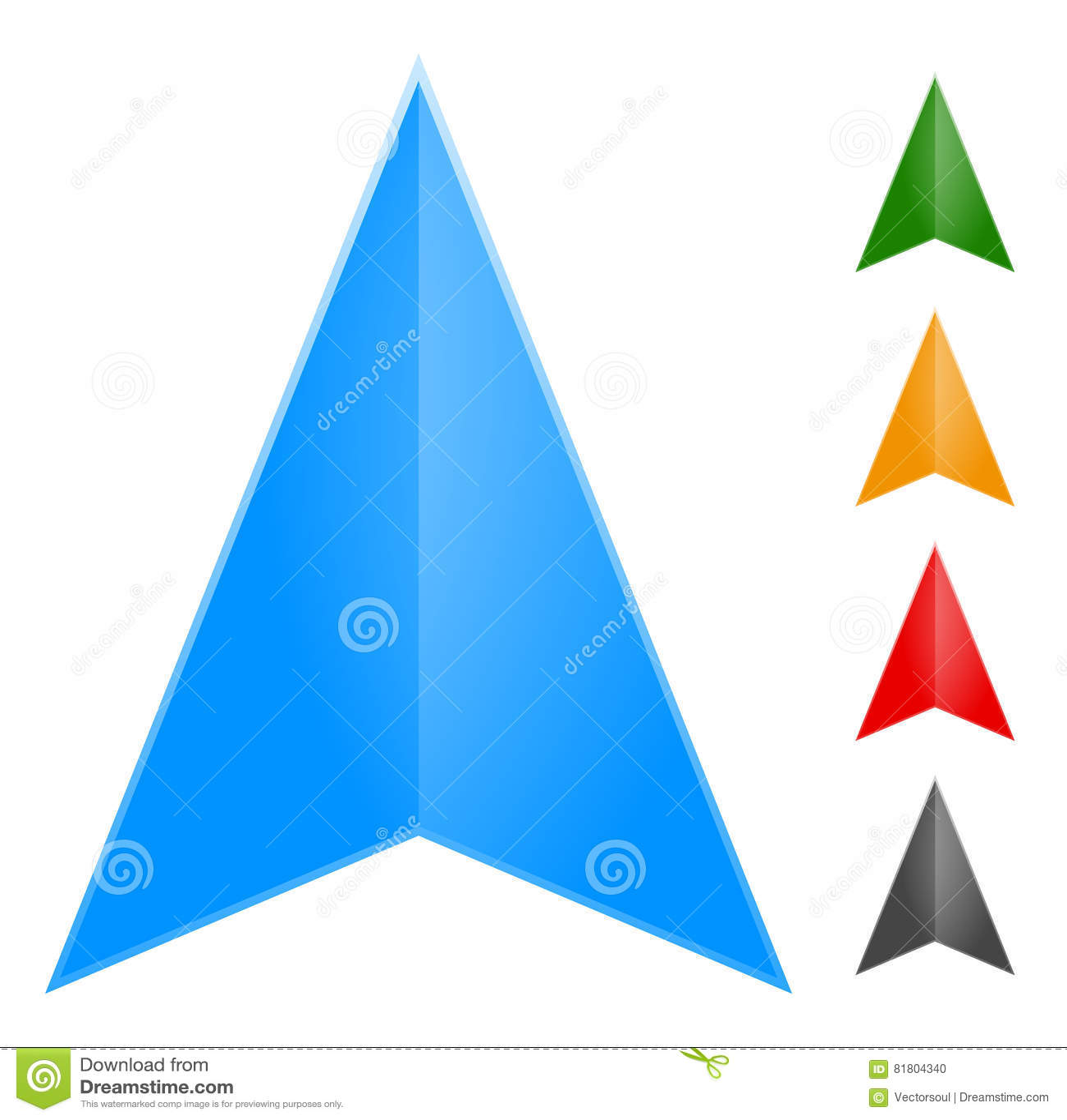 Стрелка Gps - значок указателя в изменении 5 цветов оно к новым eas цветов