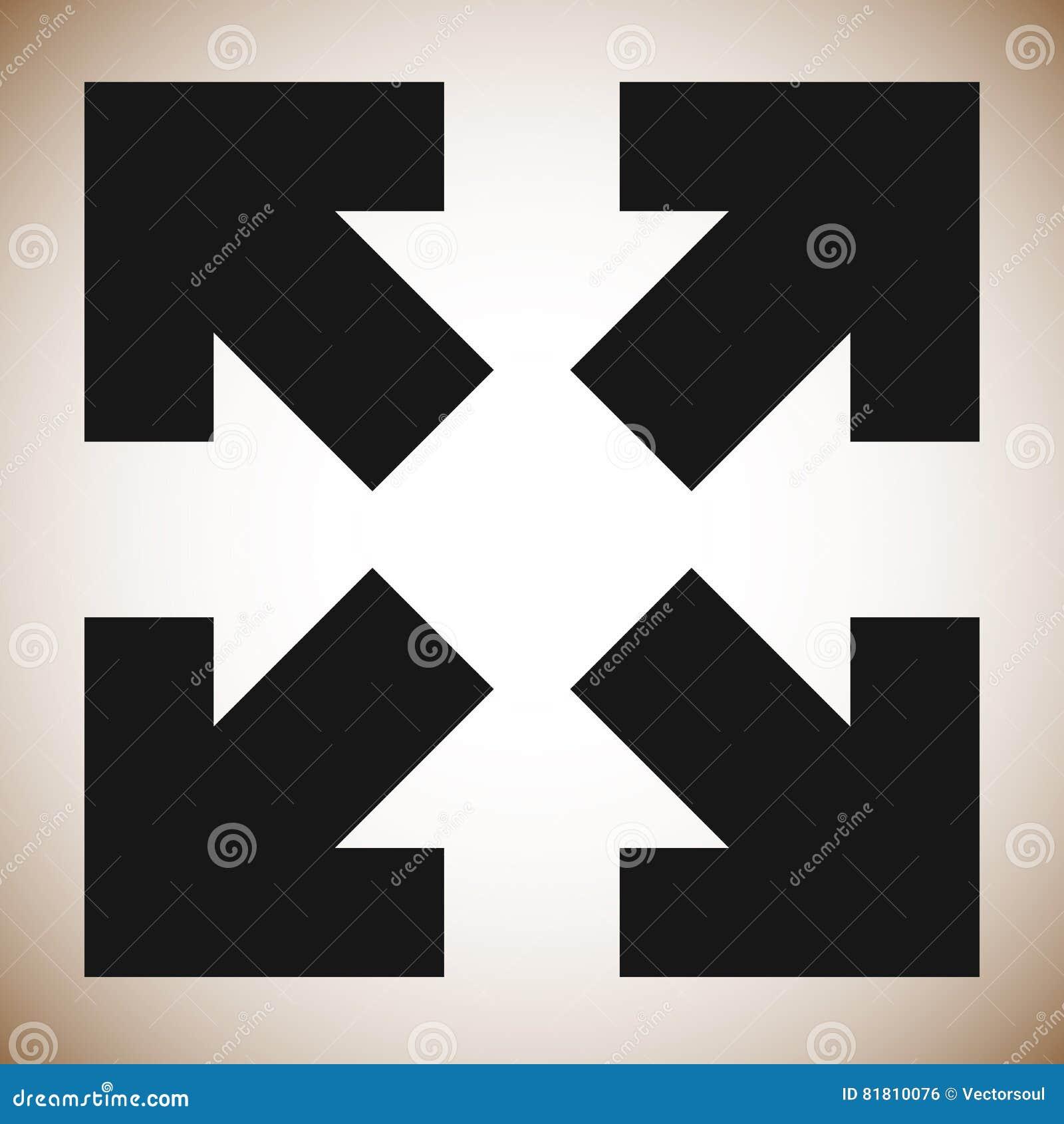 Стрелки в направлении 4 - измените размеры, выровняйте, увеличьте значок концепции