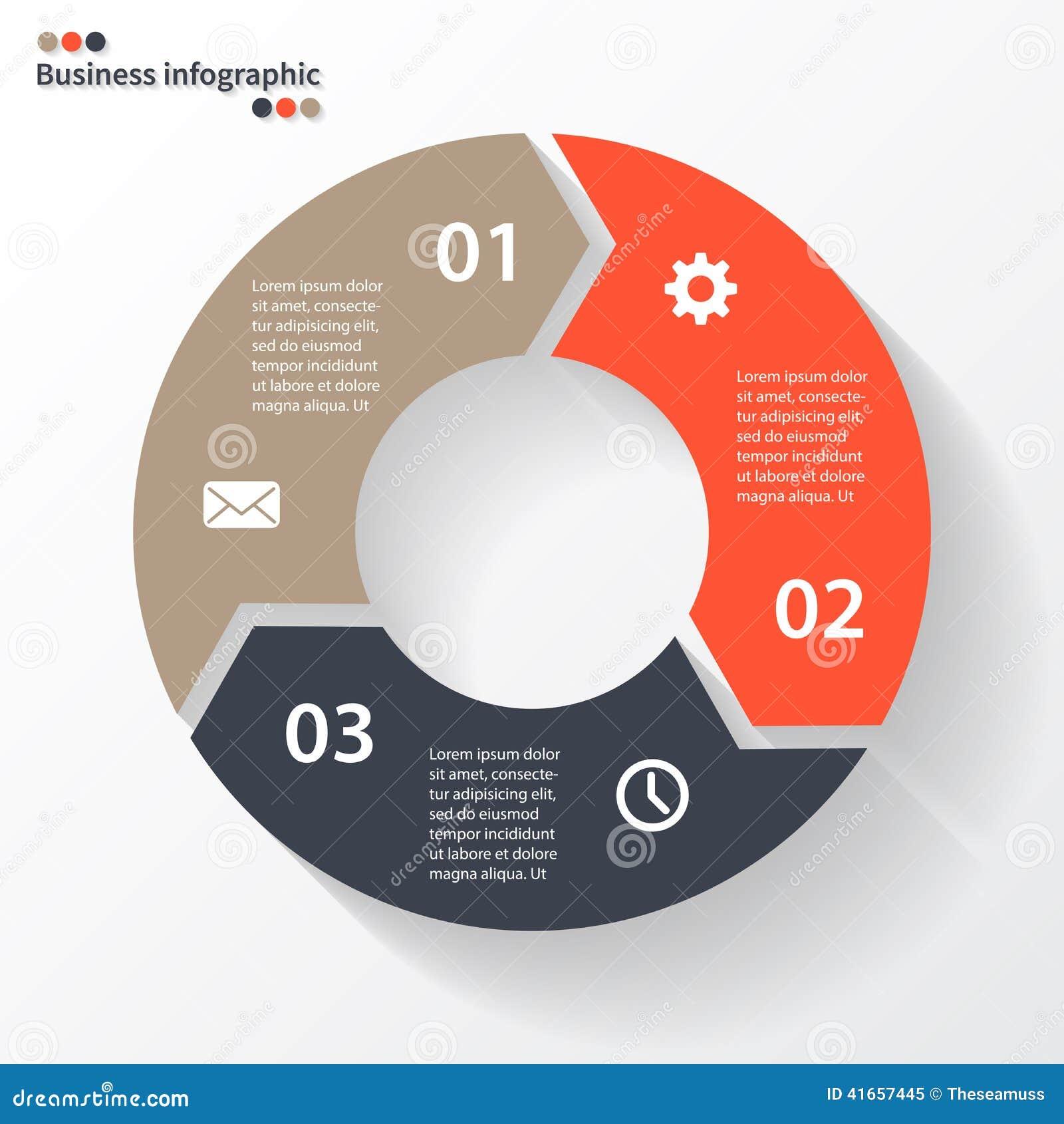 Стрелки круга для вашего графика информации