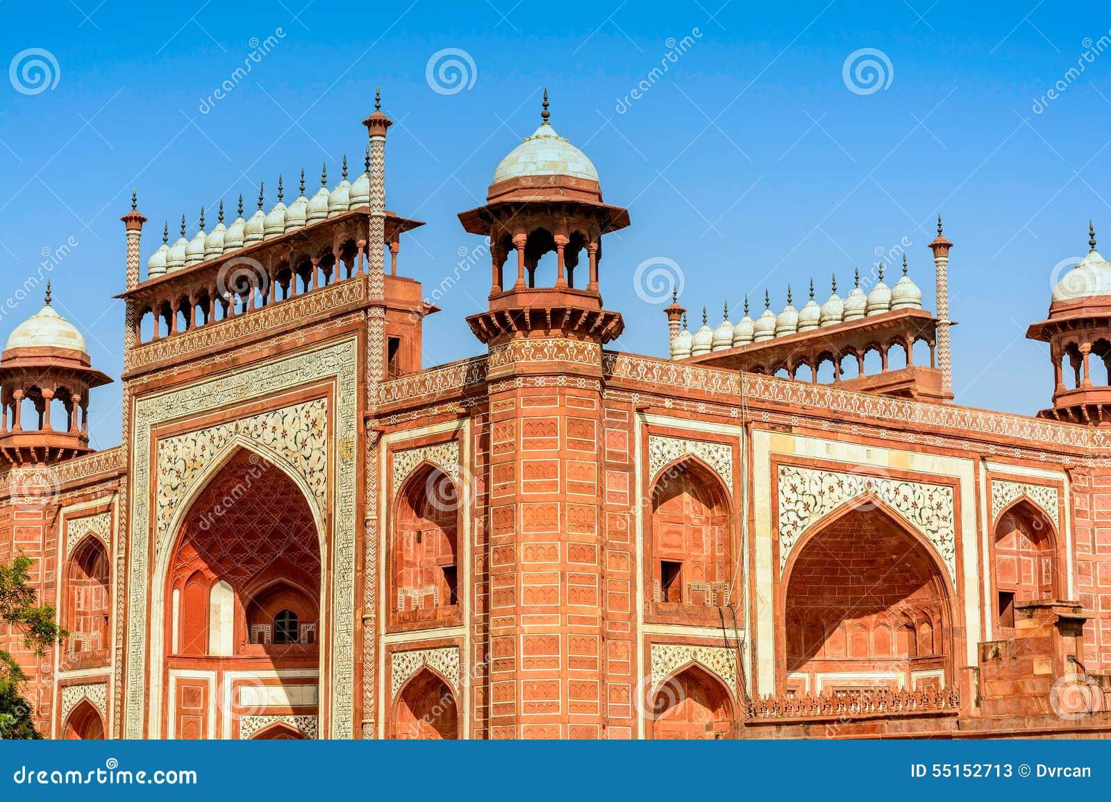 Строб в Taj Mahal, Индии