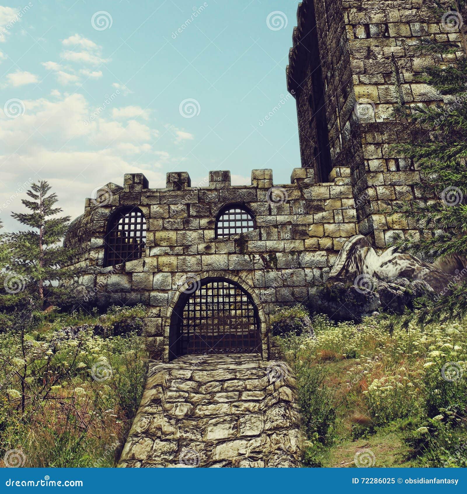 Download строб замока старый иллюстрация штока. иллюстрации насчитывающей старо - 72286025
