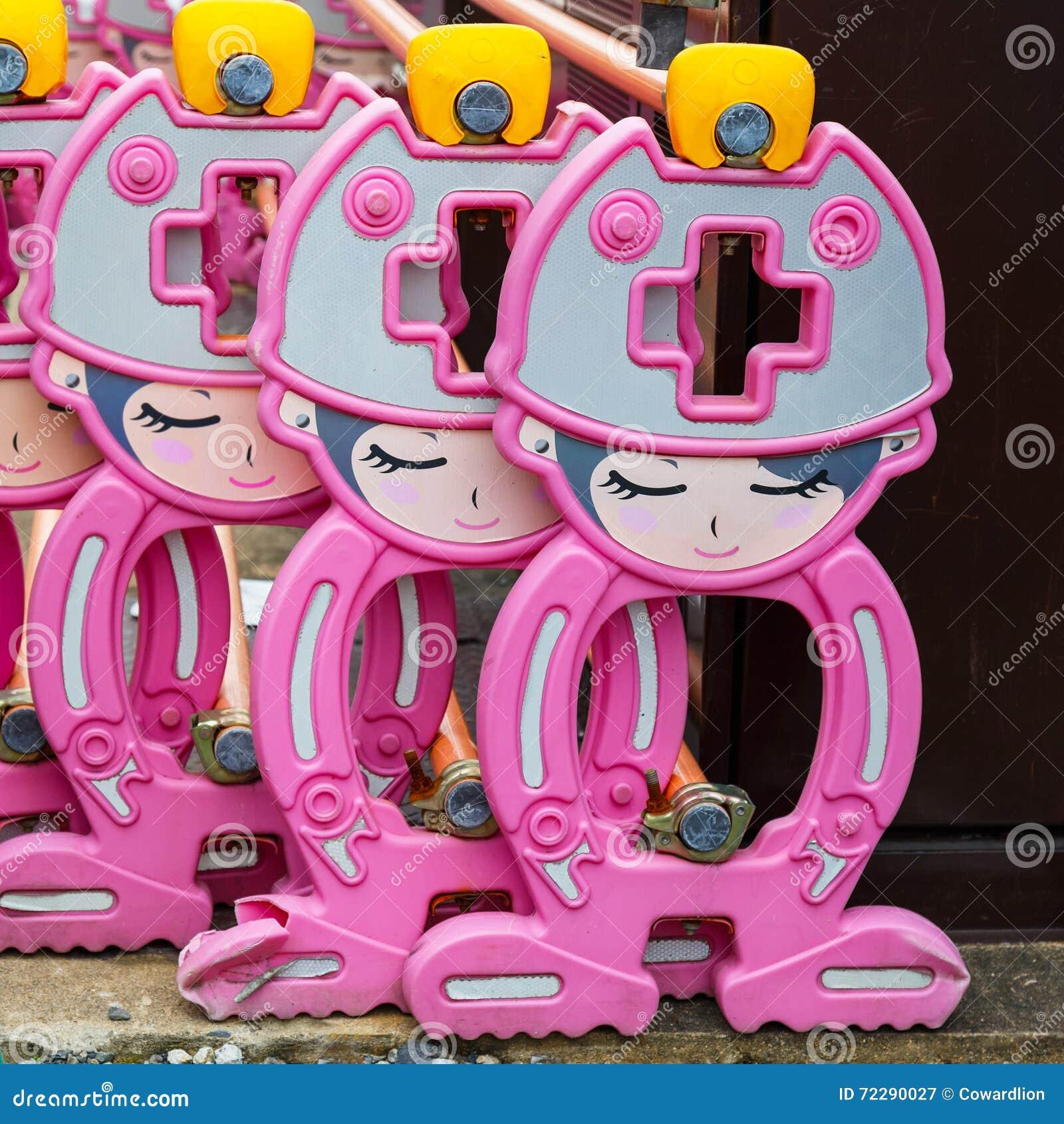 Download Строка японского барьера конструкции конструировала в милом персонаже из мультфильма Стоковое Изображение - изображение насчитывающей промышленно, ремонт: 72290027