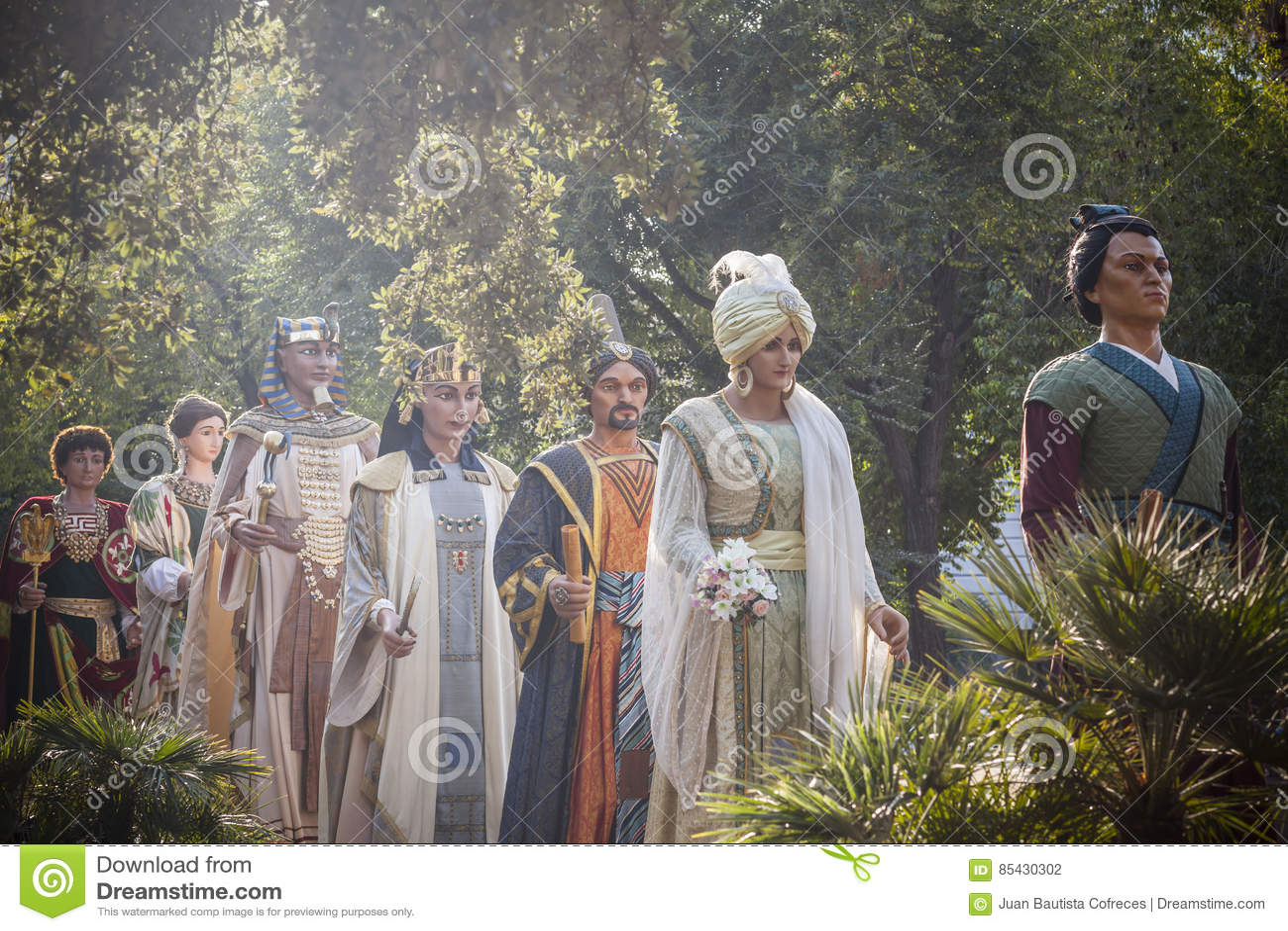 Строка Giants, Gegants, парада, диаграмм для фестивалей традиционных и фольклора, Барселоны
