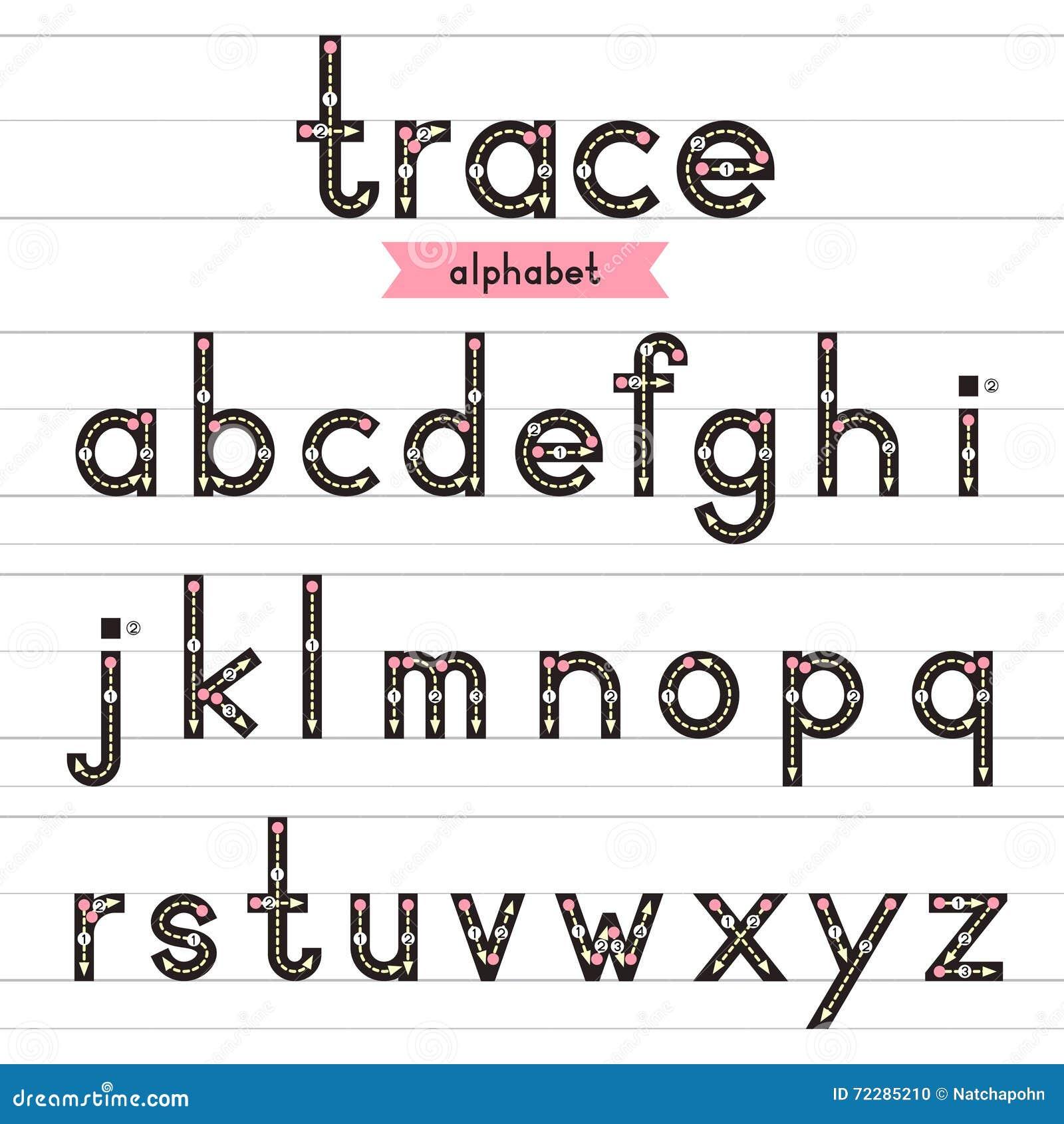Download Строчные буквы алфавита трассировки Иллюстрация вектора - иллюстрации насчитывающей учить, отчужденного: 72285210
